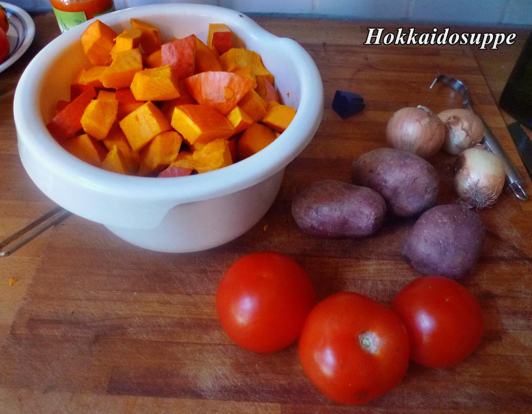 Zutaten für Hokkaidosuppe