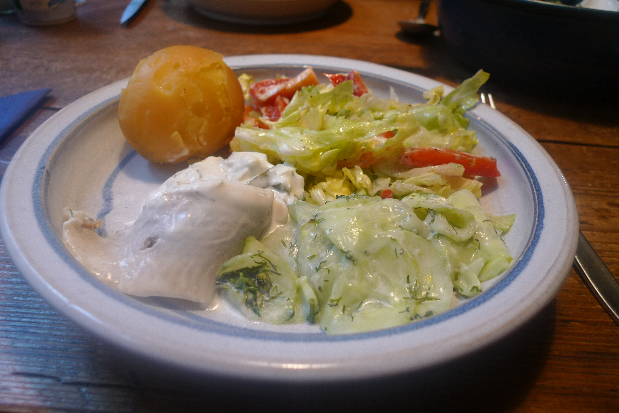 Marinierter Hering-Salate-Kartoffel