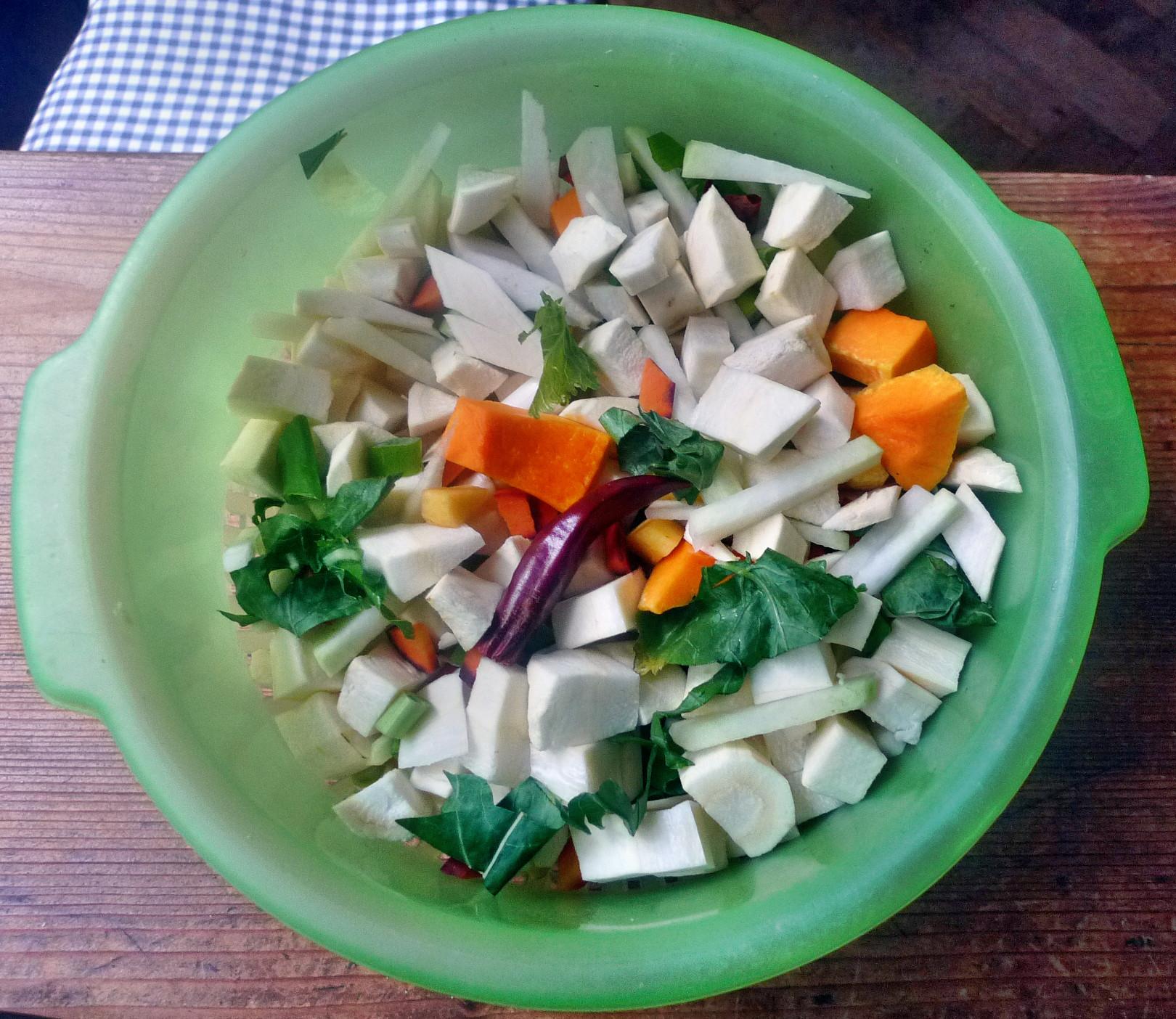 Wurzelgemüse-Fleischbällchen-Kartoffel