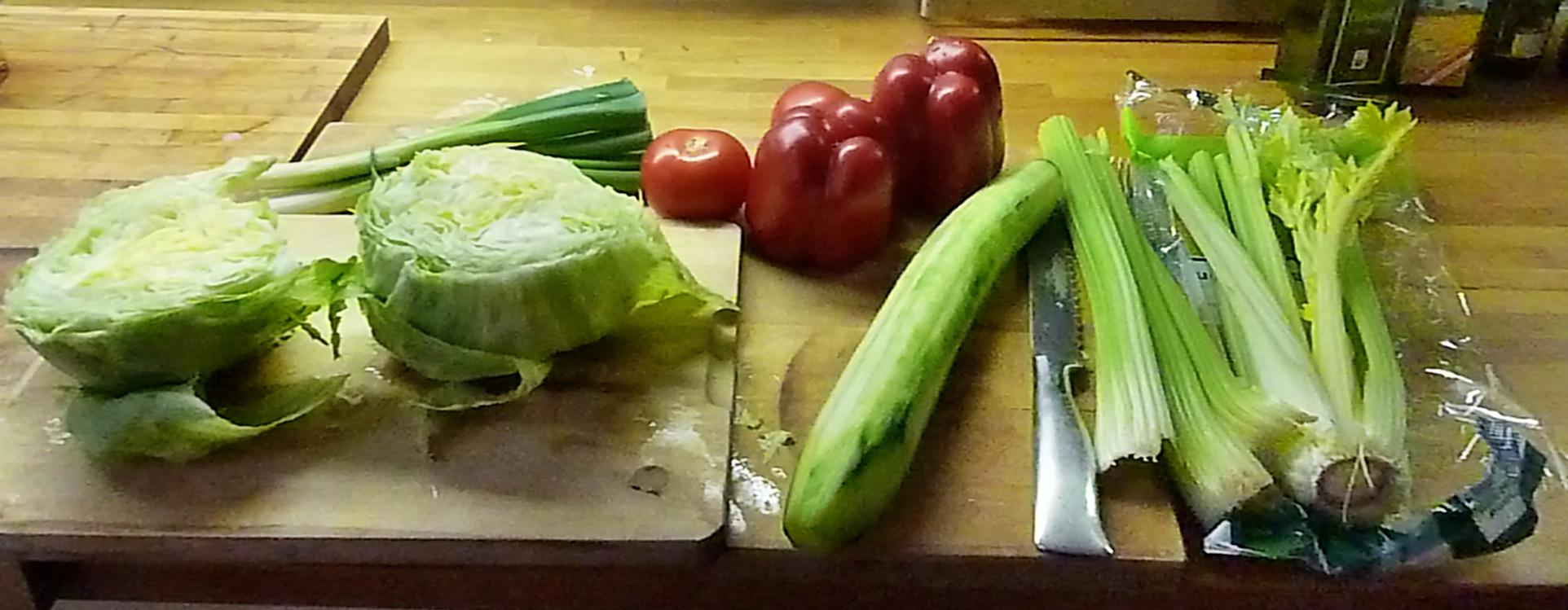 Gemüse für den heutigen Tag