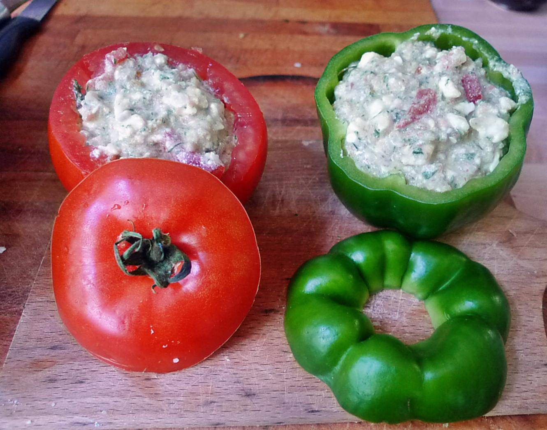 Gefüllte Tomaten,Gurkengemüse,Champignon,Zucchini,Reis-24.7.14   (4)