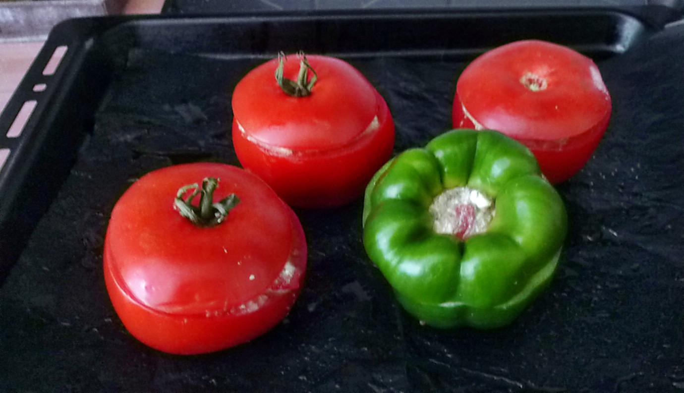 Gefüllte Tomaten,Gurkengemüse,Champignon,Zucchini,Reis-24.7.14   (5)