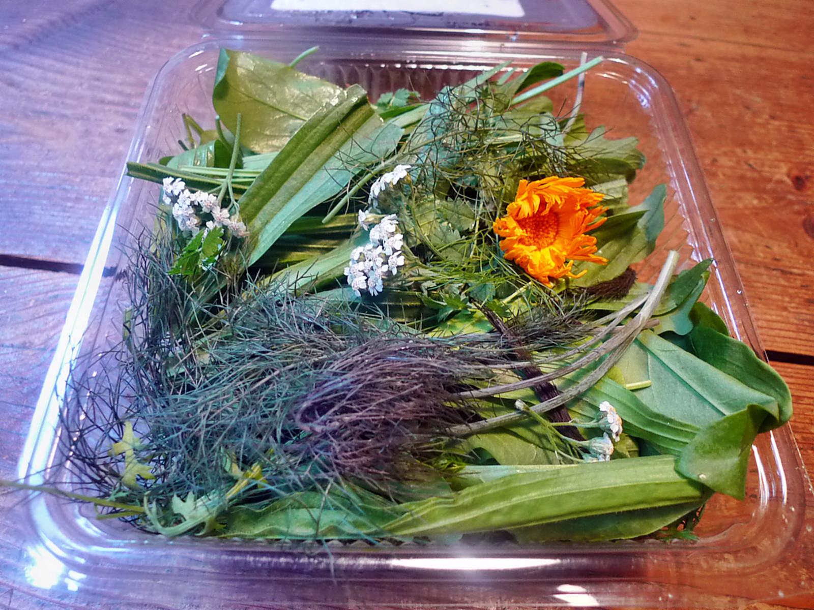 Rührei-Wildkräutersalat-Tomatensalat-Kartoffeln-25.7.14   (1a)