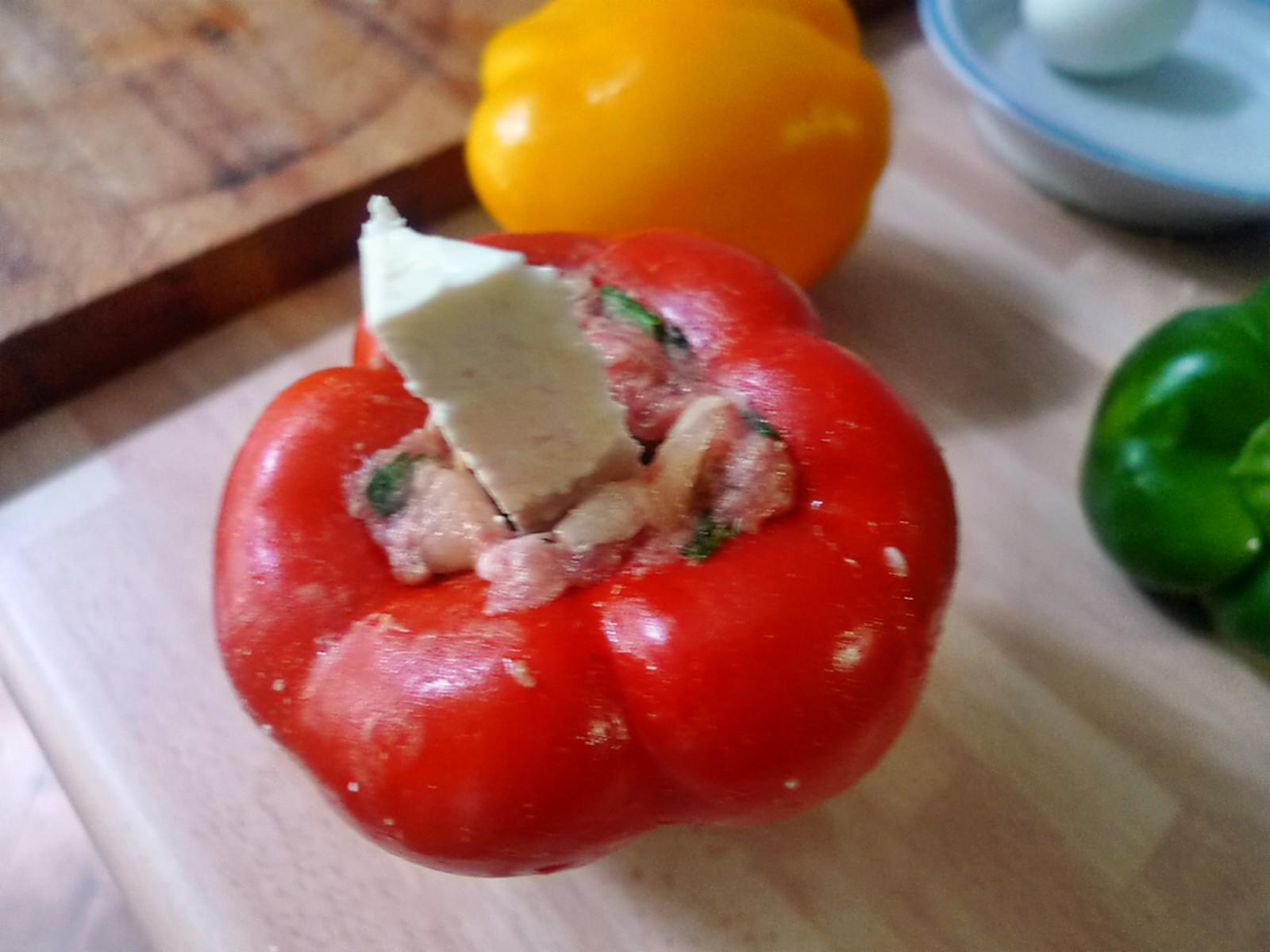 gefüllte Zucchini und Paprika-7.8.14   (10)