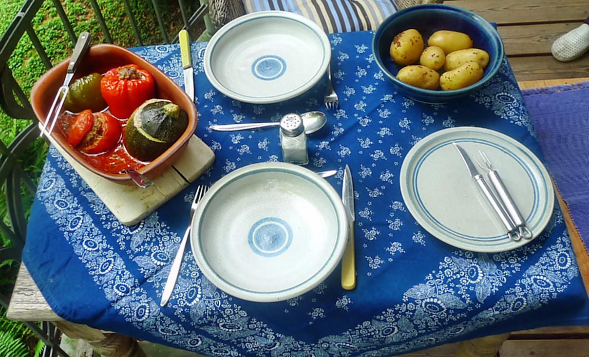 gefüllte Zucchini und Paprika-7.8.14  (19)