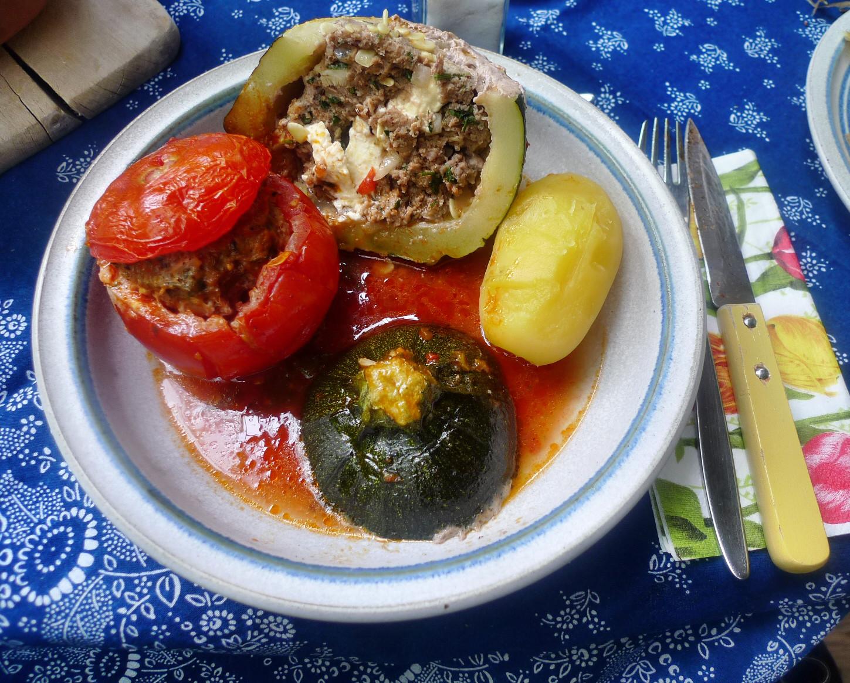gefüllte Zucchini und Paprika-7.8.14  (20)
