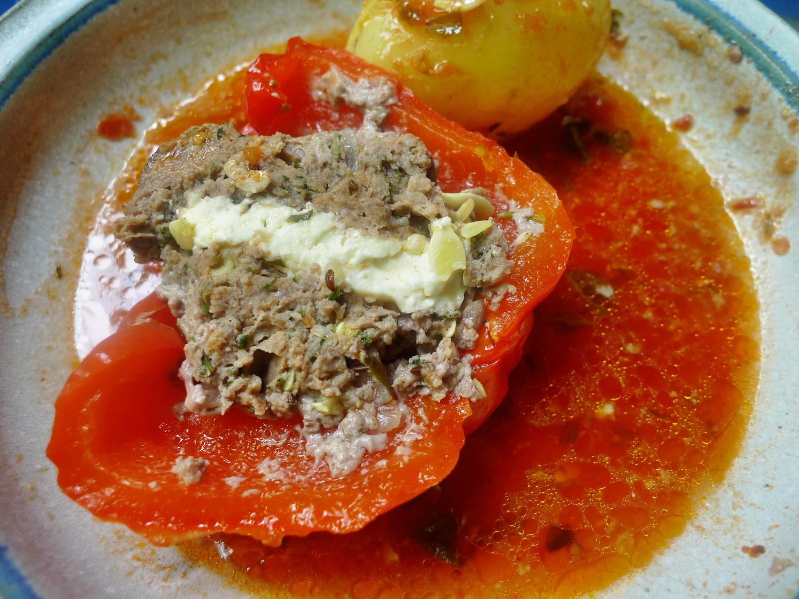 gefüllte Zucchini und Paprika-7.8.14  (25)