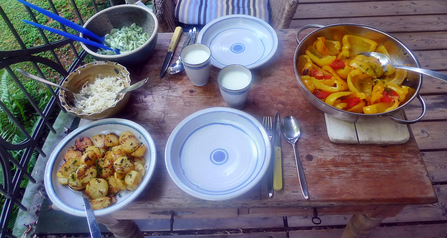 Paprika-Rettichsalat-Gurkensalat-Bratkartoffel-1.8.14   (2)