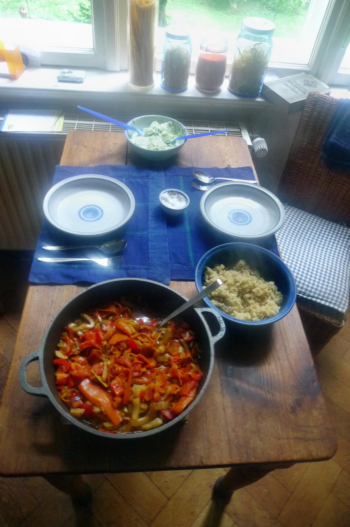 Fenchel,Möhrengemüse,Quinoa,Gurkensalat-15.9.14   (9)