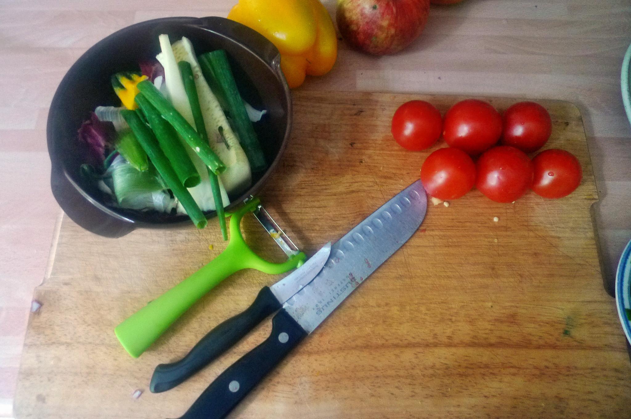 Gemüse-Nudelpfanne - 16.9.14   (5a)