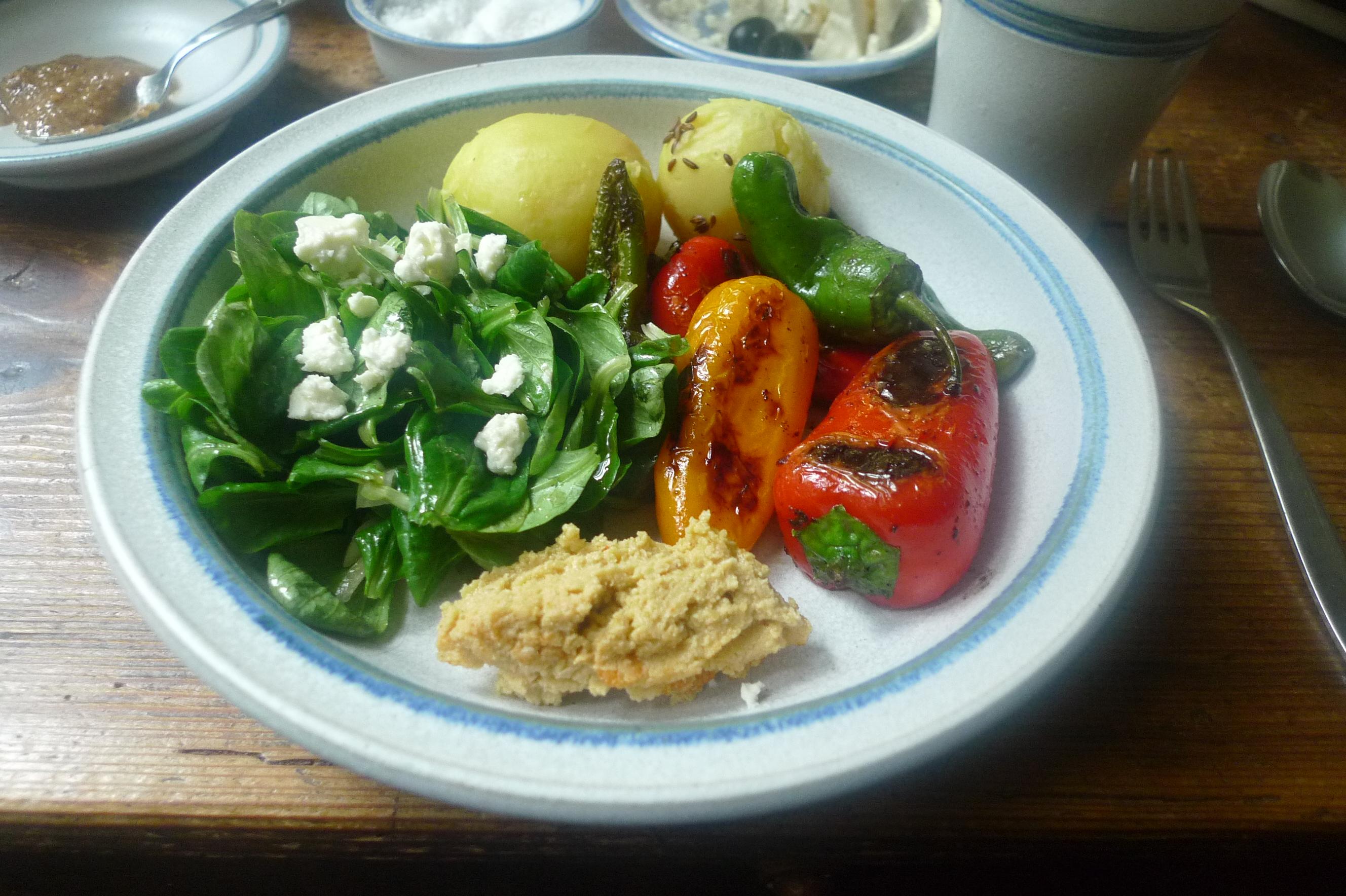 Pimentos-Paprika-Kartoffel-Salat-Buttermilch- 28.9.14   (13)