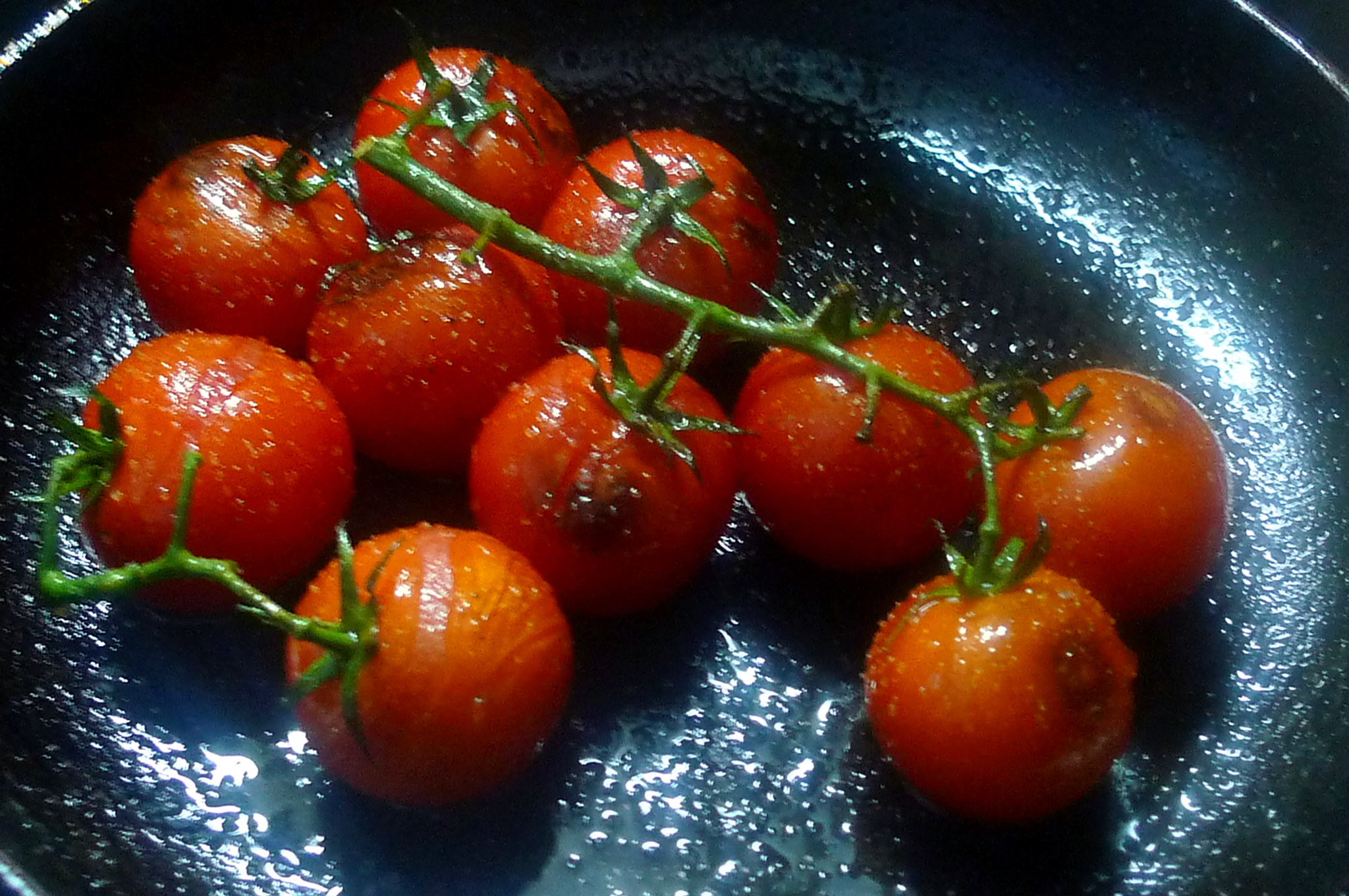 Spinat mit Rührei,Salat,Kartoffel,gebratene Tomaten -- 11.9.14   (7)