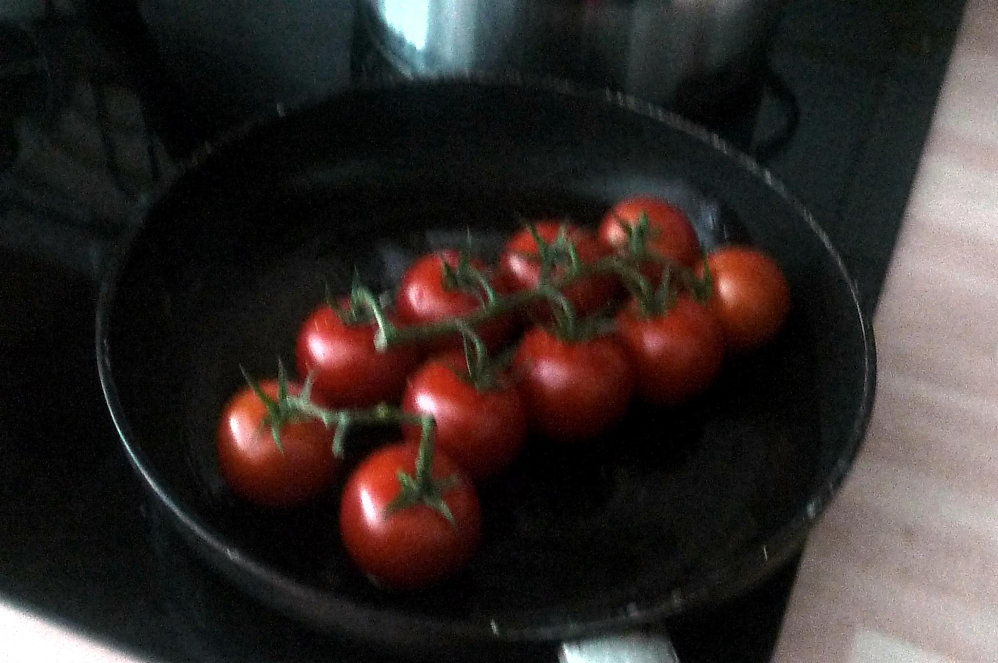 Spinat mit Rührei,Salat,Kartoffel,gebratene Tomaten -- 11.9.14   (8)
