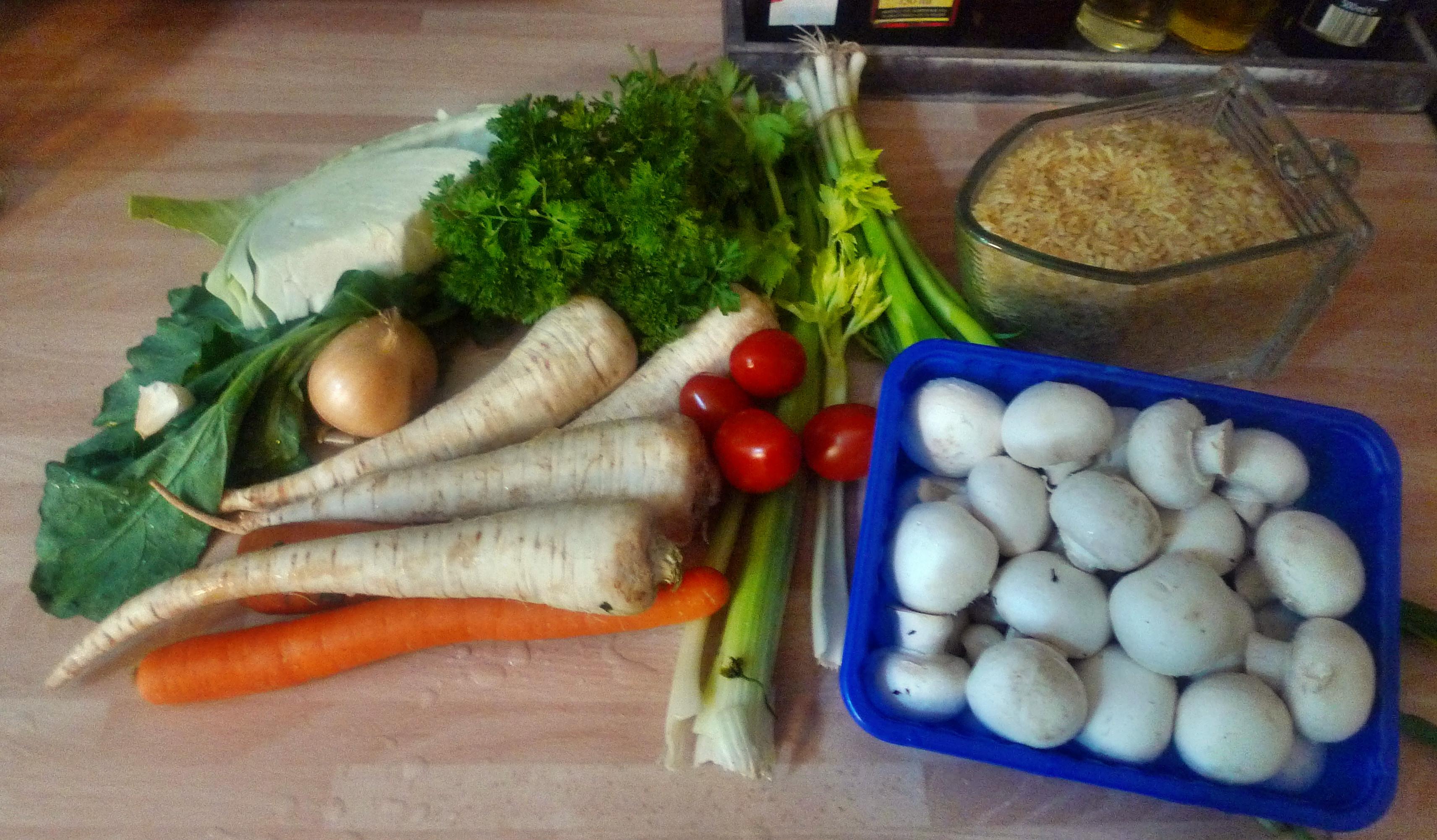 Gemüsepfanne-Reis-Champignon - 13.10.14   (2)