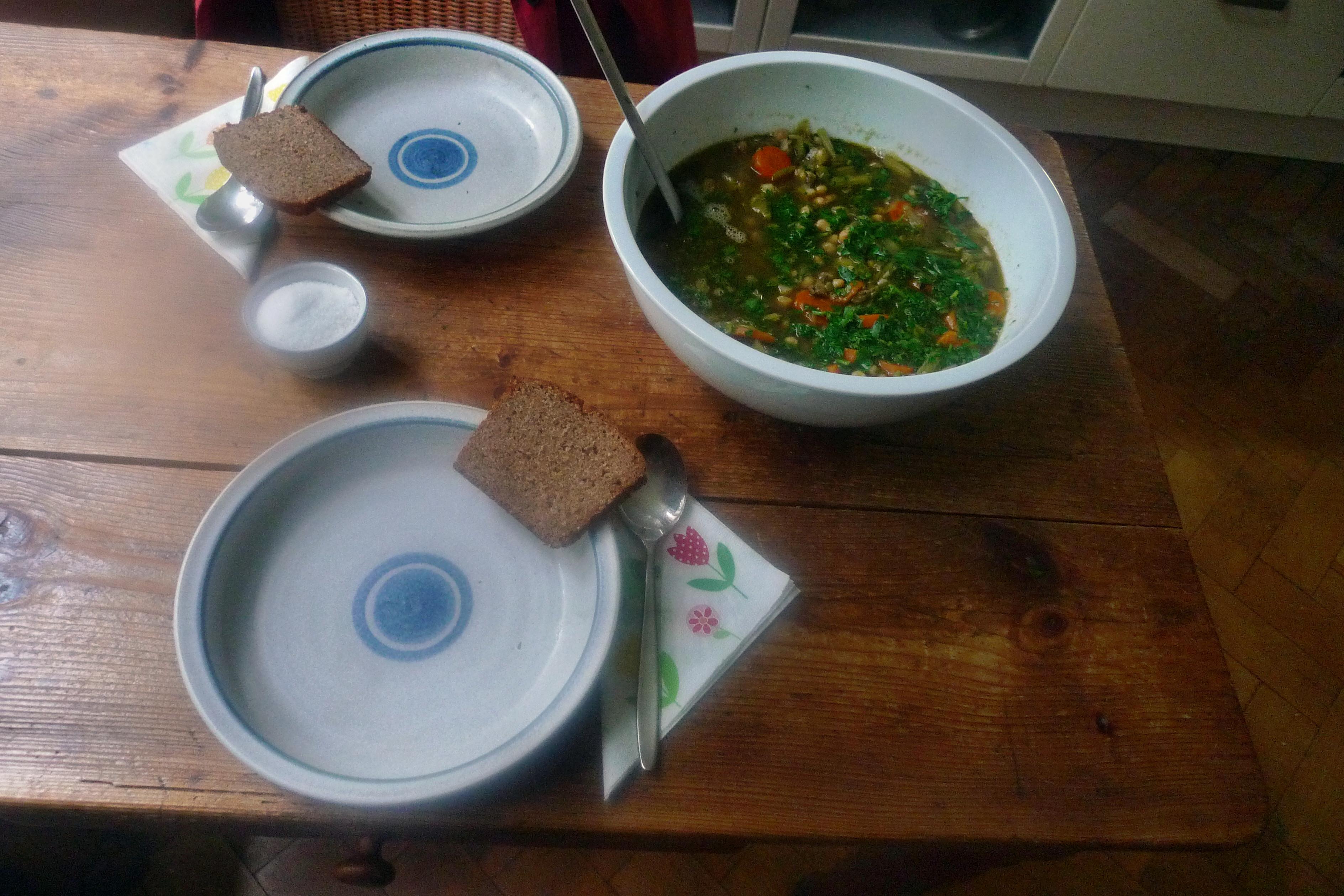 Gemüsesuppe mit Kichererbsen- vegan- 16.10.14   (15)