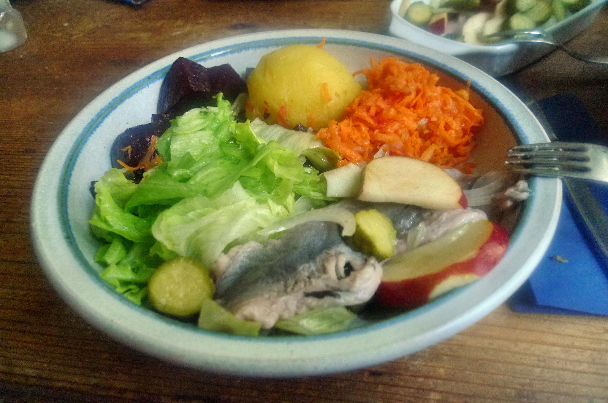 Matjes,Rote Beete,Möhrensalat,Eisberg,Kartoffel - 5.10.14   (18)