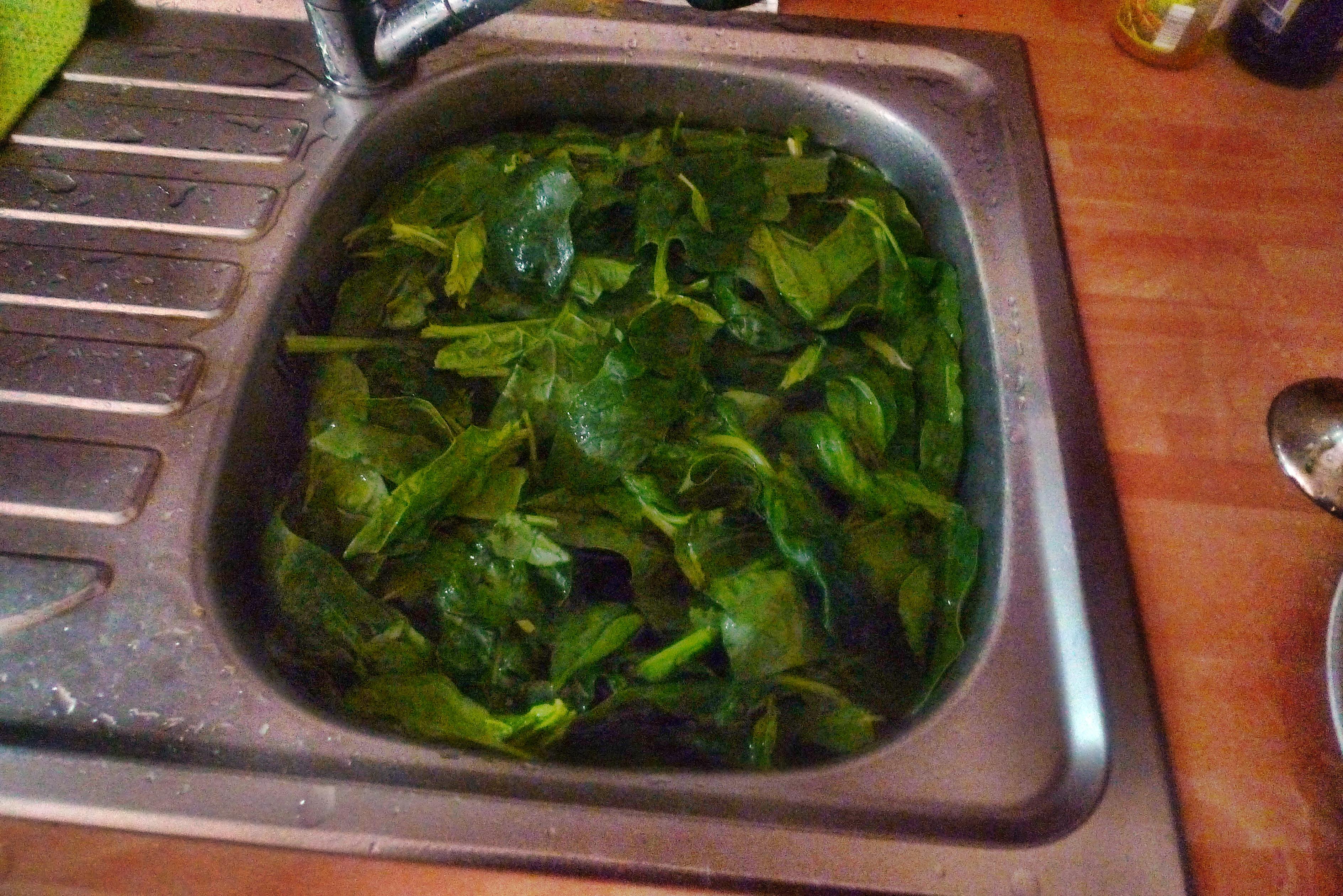 Spinat mit Nudeln-Apfel im Schlafrock -25.10.14   (2)