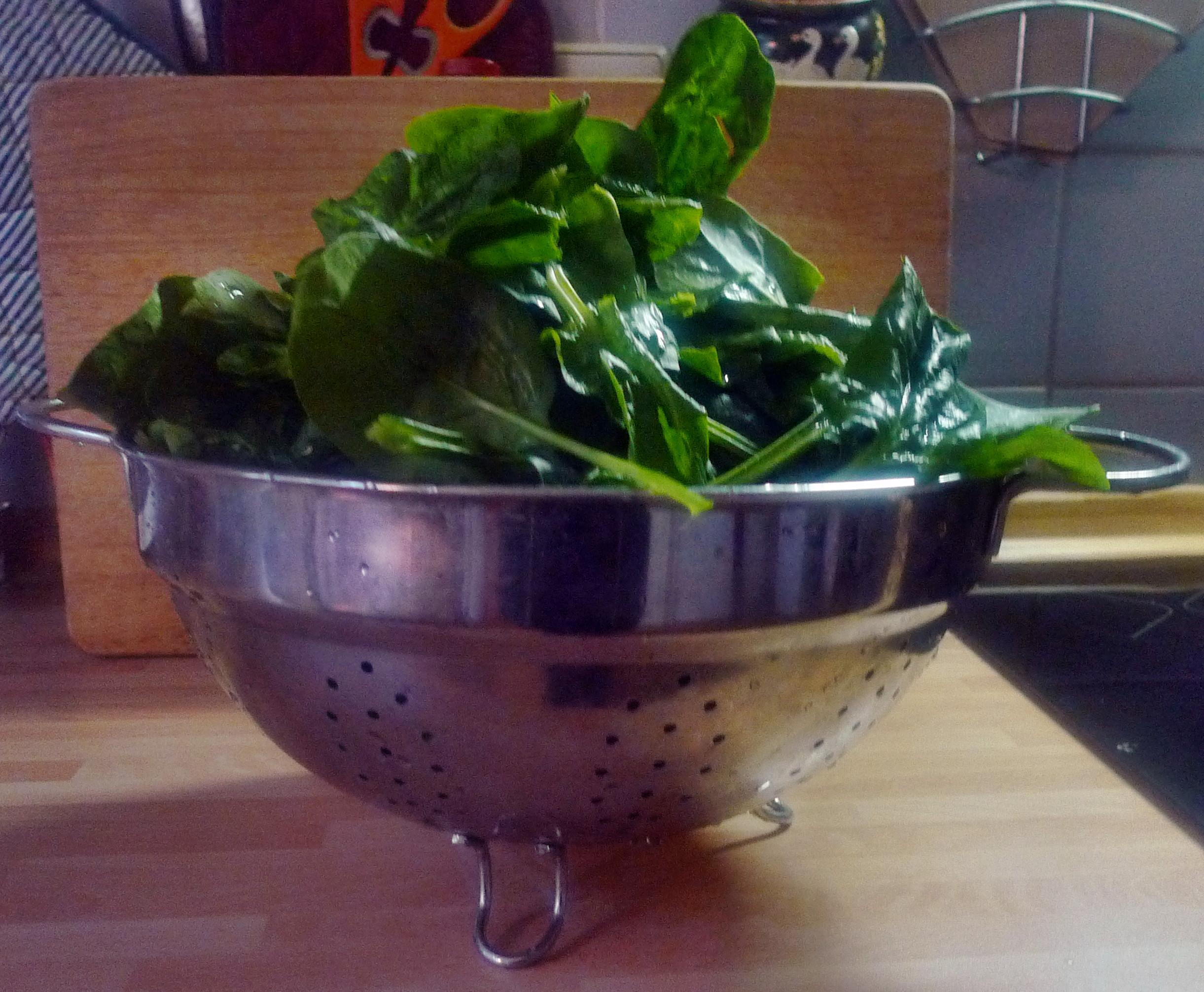Spinat mit Nudeln-Apfel im Schlafrock -25.10.14   (2a) (1)