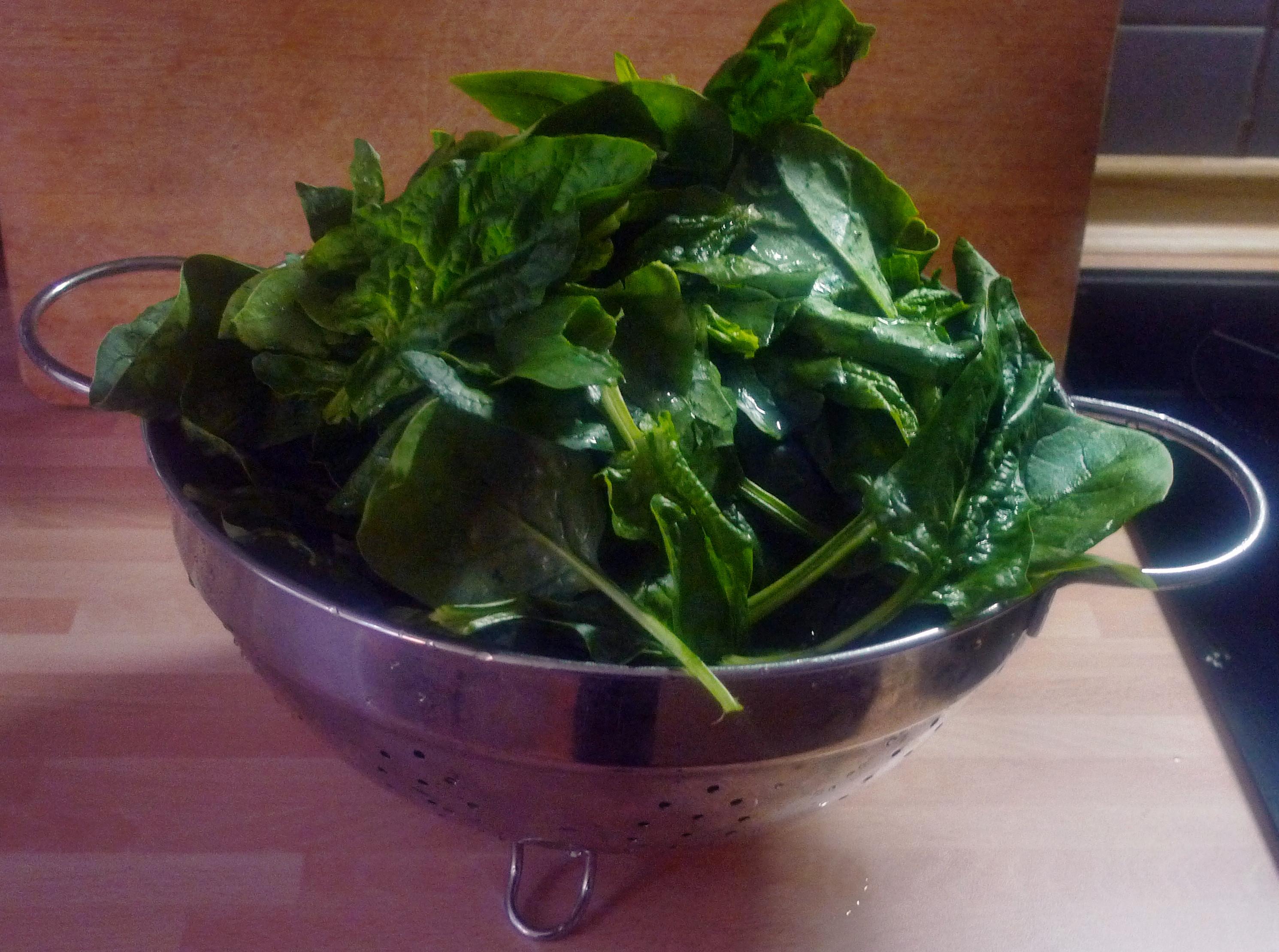 Spinat mit Nudeln-Apfel im Schlafrock -25.10.14   (2a) (2)