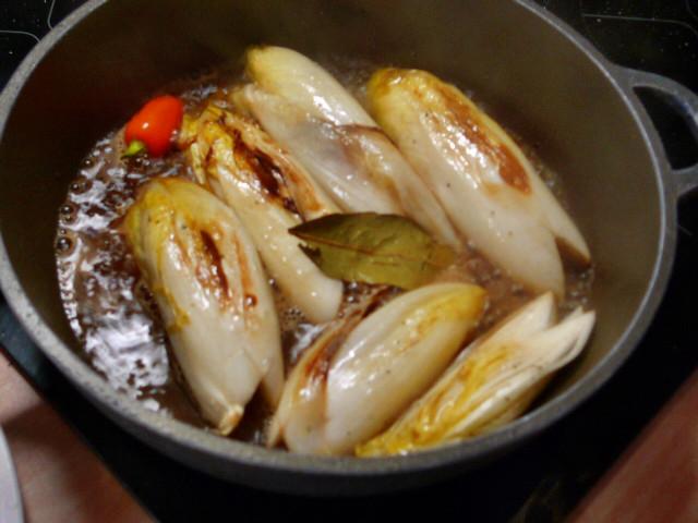 Chicoree,Kartoffeln,gebackener Feta (10)
