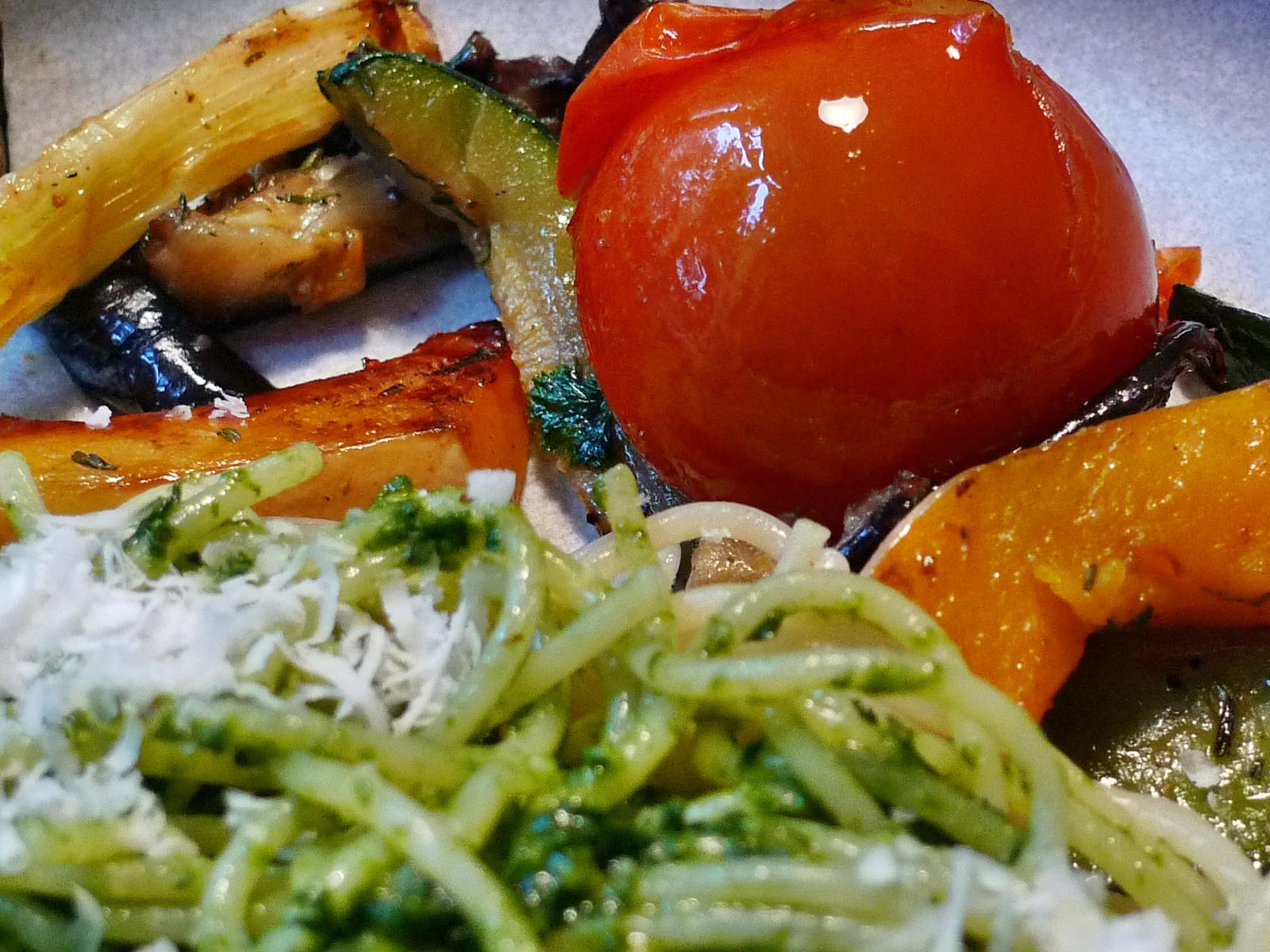 Nudeln mit Bärlauchpesto,Gemüse-4.12.14   (10)