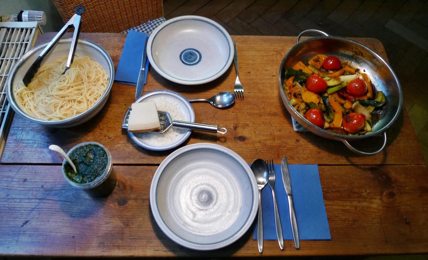 Nudeln mit Bärlauchpesto,Gemüse-4.12.14   (7)
