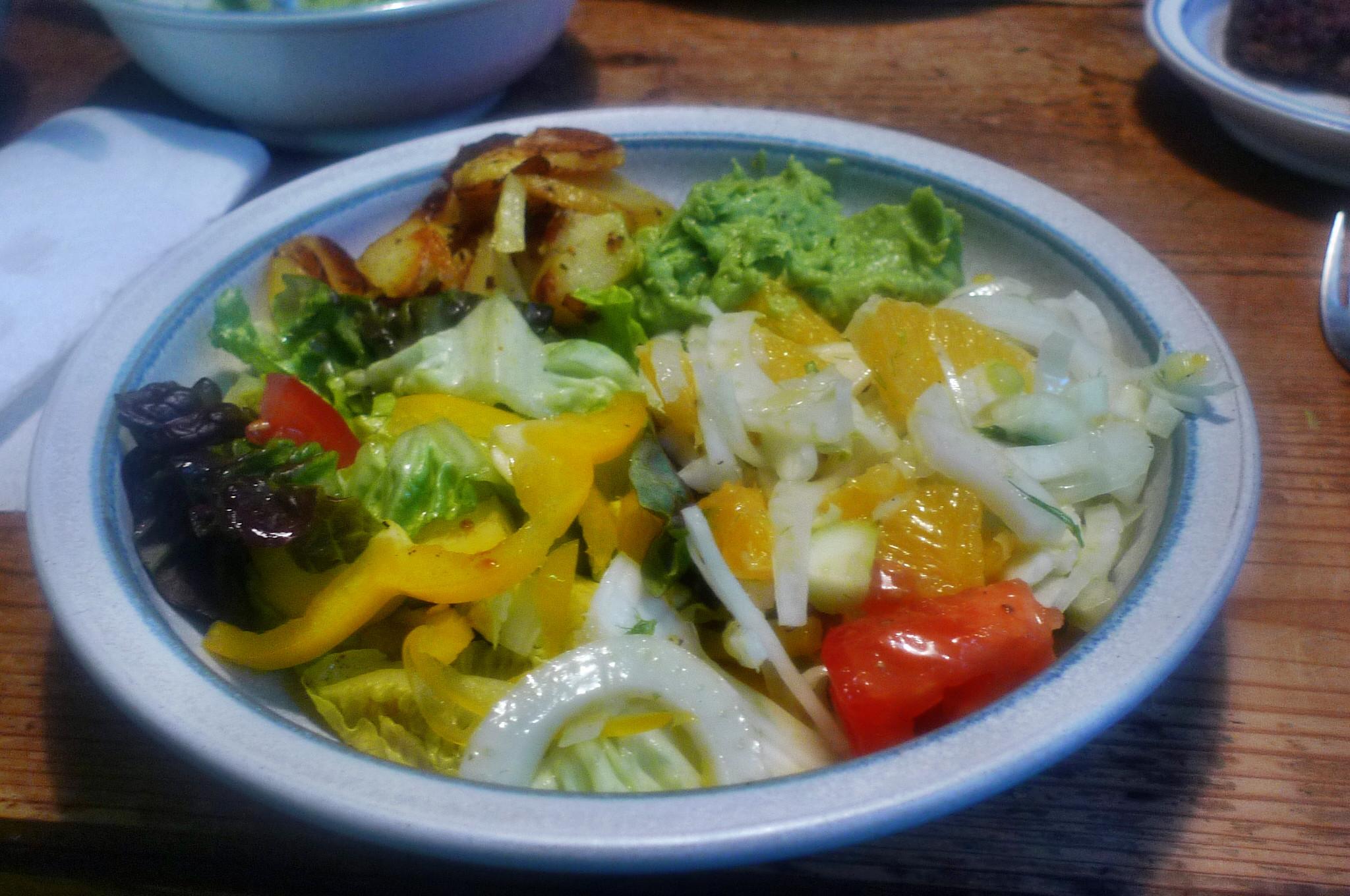 Guacamole,Fenchelsalat,Salat,Bratkartoffel--22.1.15   (13)