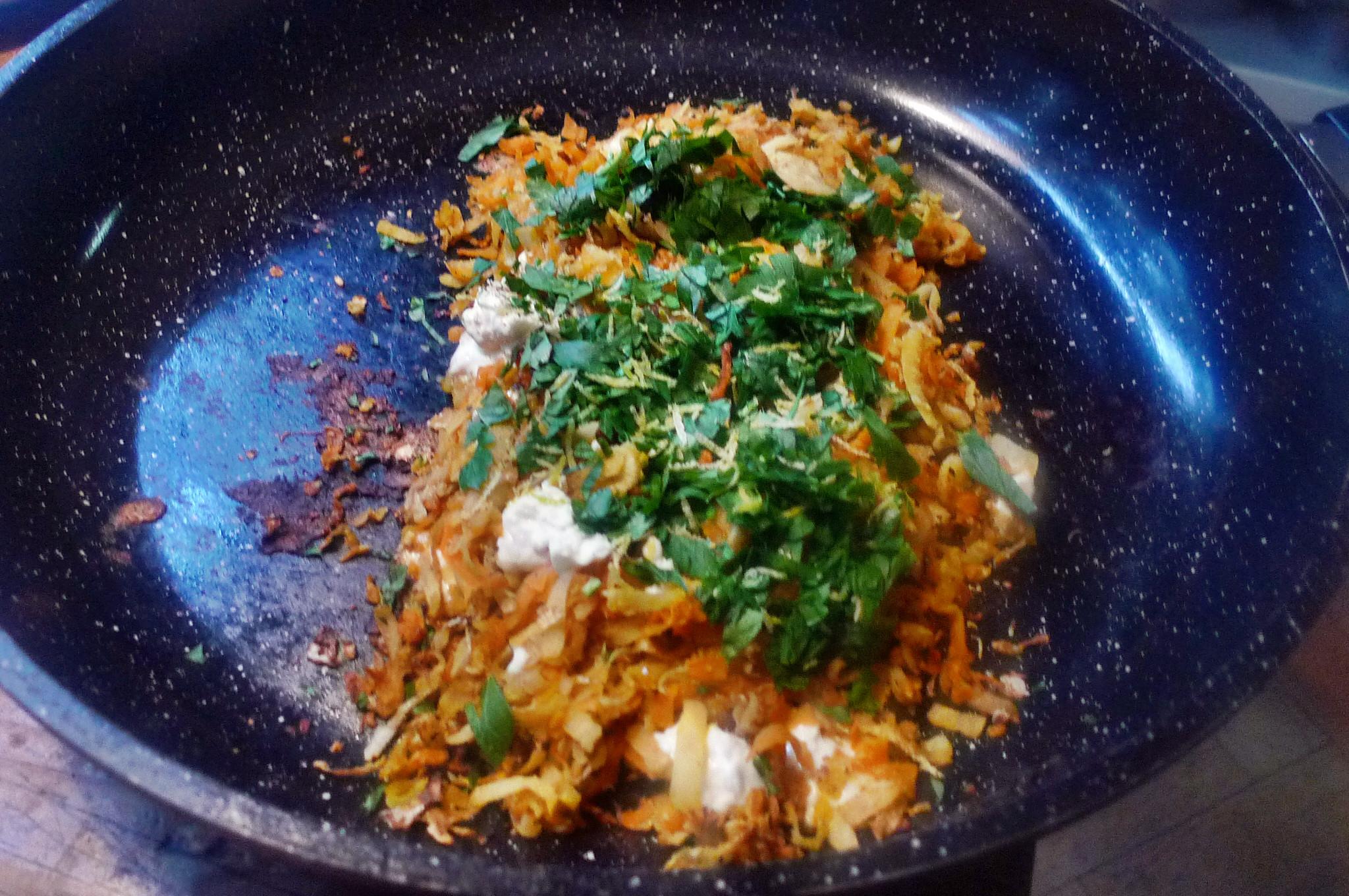 Buchweizenpfannkuchen mit Gemüsefüllung - 1.2.15   (7c)