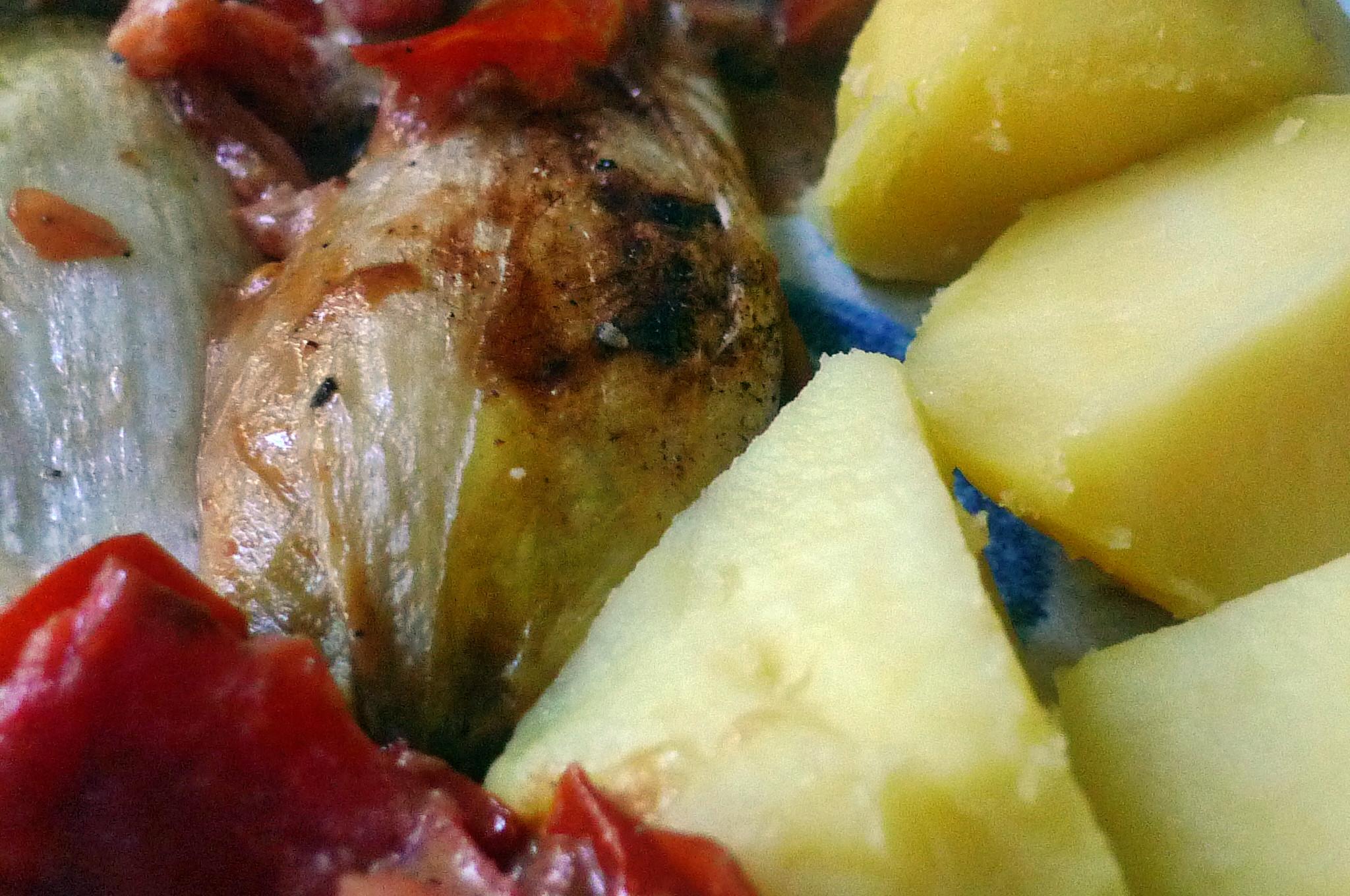 Chicoree,Salzkartoffeln,Pflaumenkompott,vegetarisch - 28.2.15   (11)