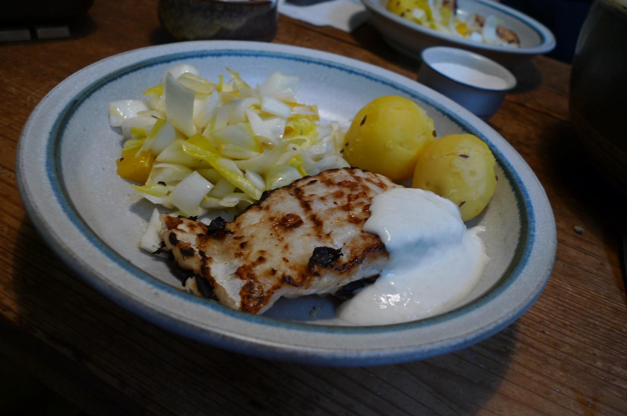 Kabeljau,Chicoreesalat,Kartoffeln,Quarkspeise - 17.2.15   (13)