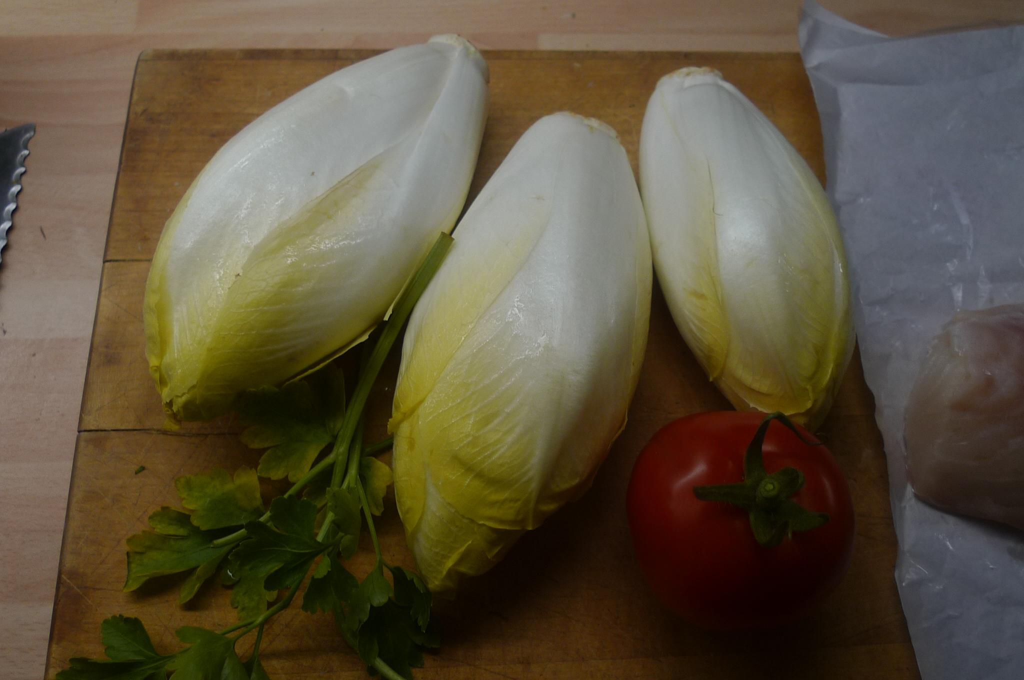 Kabeljau,Chicoreesalat,Kartoffeln,Quarkspeise - 17.2.15   (2)