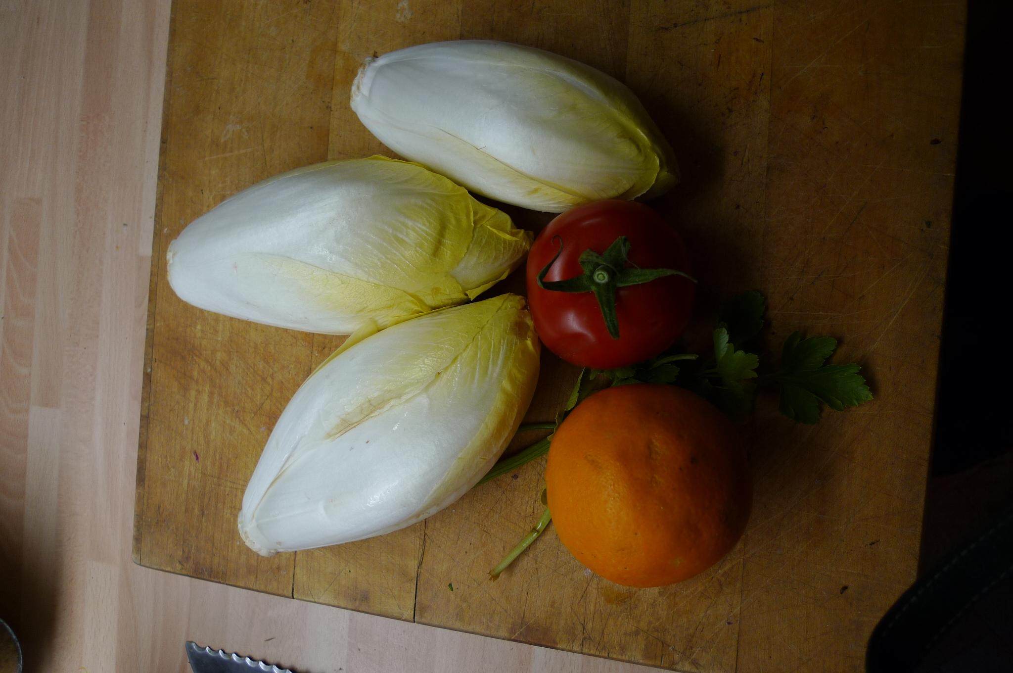 Kabeljau,Chicoreesalat,Kartoffeln,Quarkspeise - 17.2.15   (3)