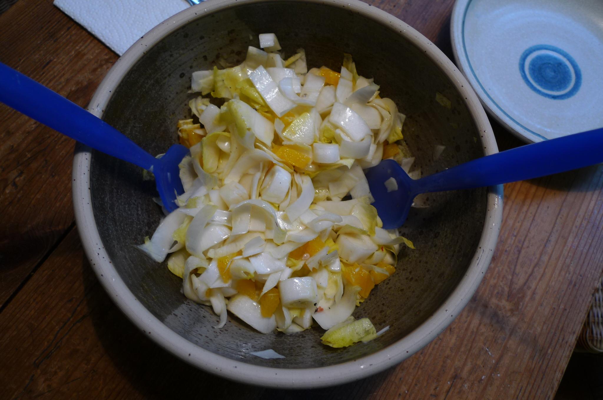 Kabeljau,Chicoreesalat,Kartoffeln,Quarkspeise - 17.2.15   (6)