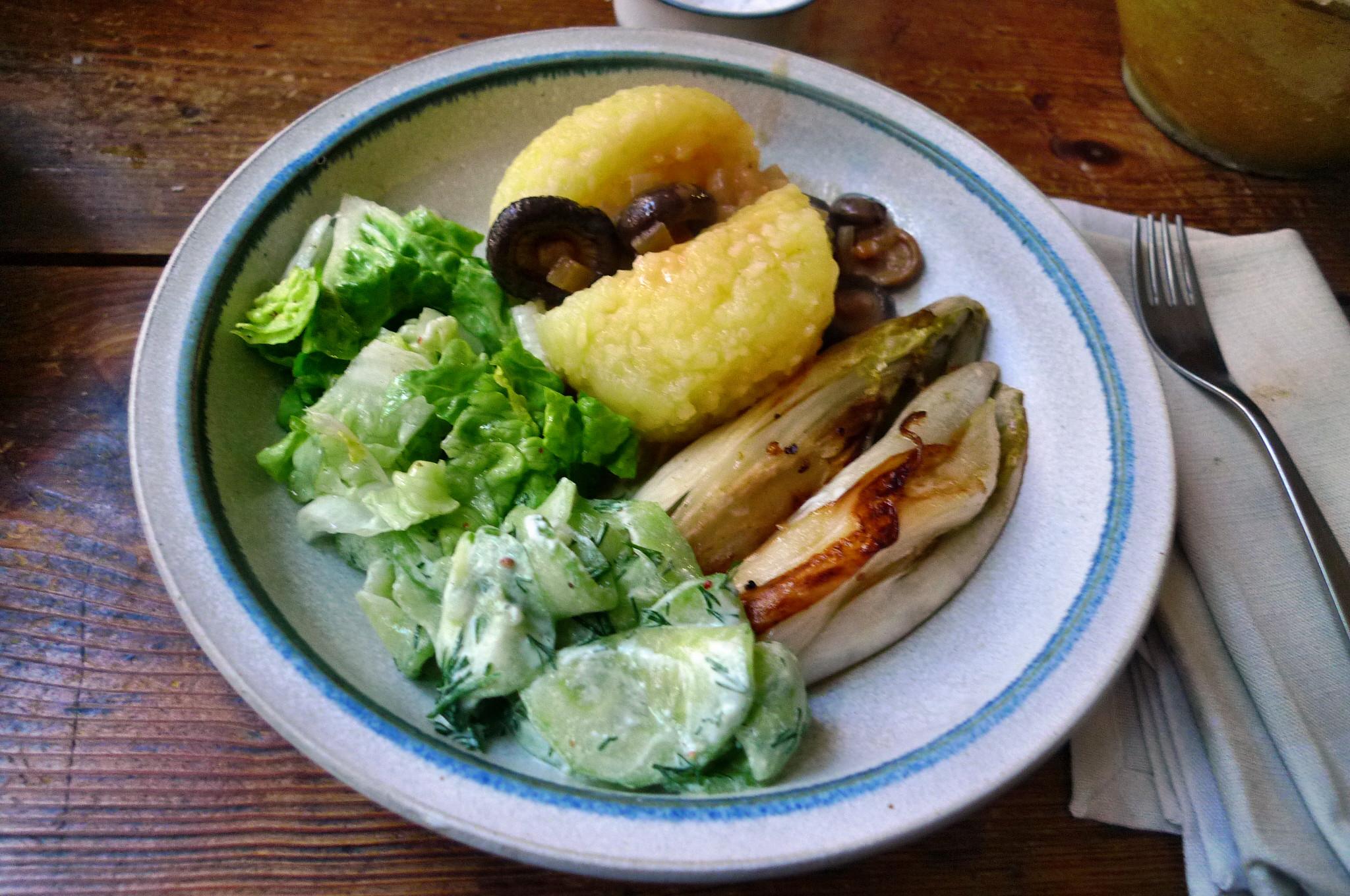 Klöße,Pilzsauce,Salate-8.2.15   (18)