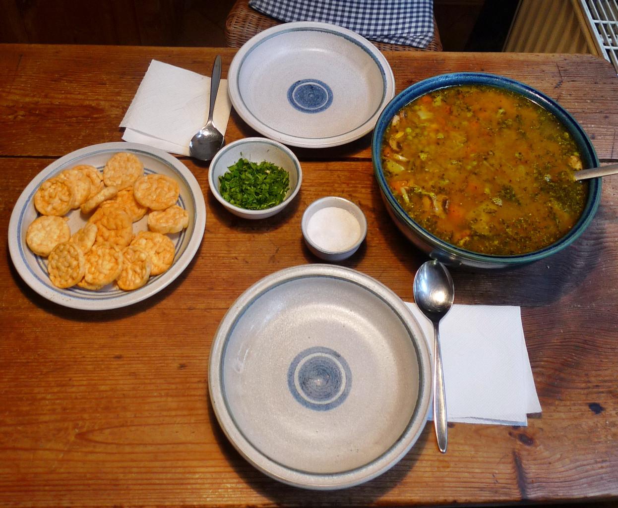 Gemüsesuppe mit Cräcker-6.3.15   (12)