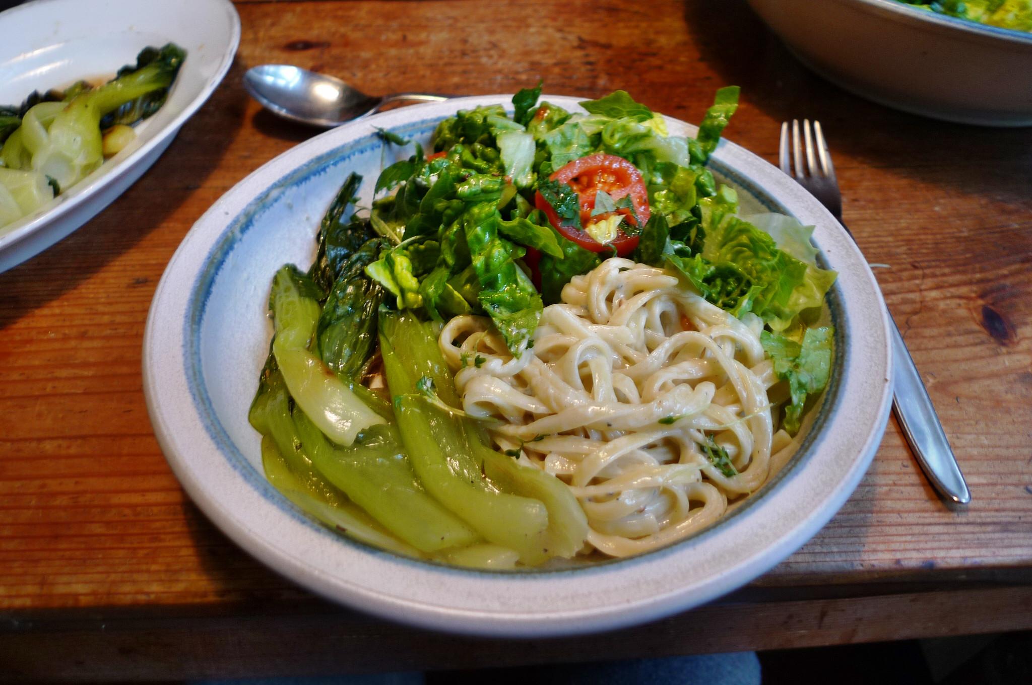 Nudeln mit Gorgonzola,Pak Choy,Salat, - 1.3.2015   (14)