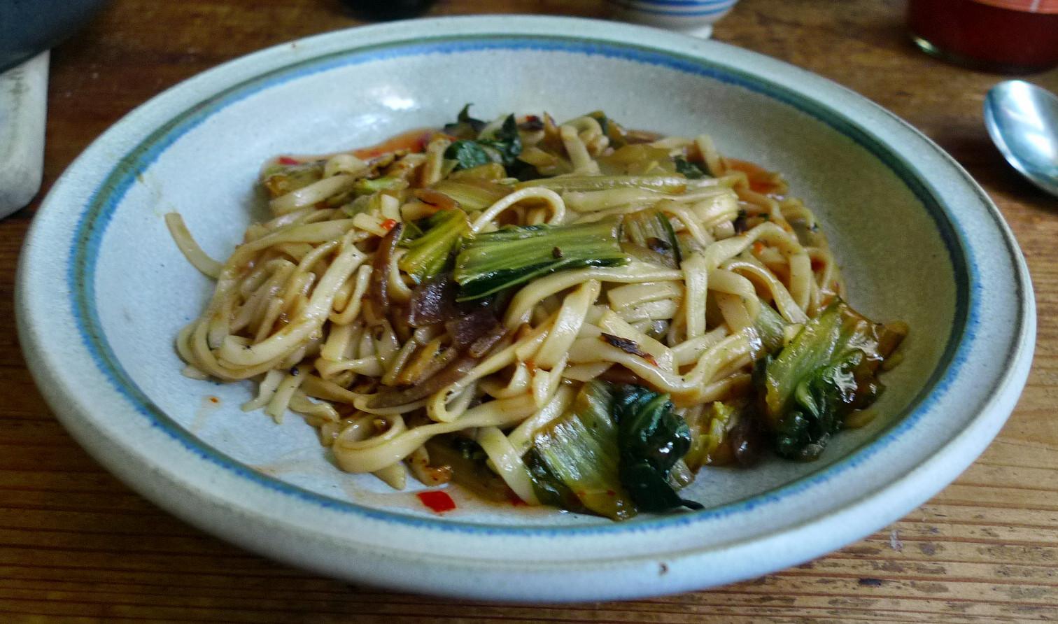 Chinesische Nudeln mit Pak Choi (15a)