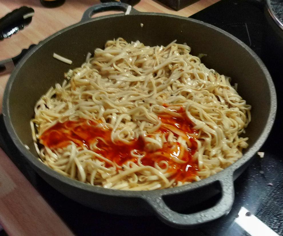Chinesische Nudeln mit Pak Choi (9)