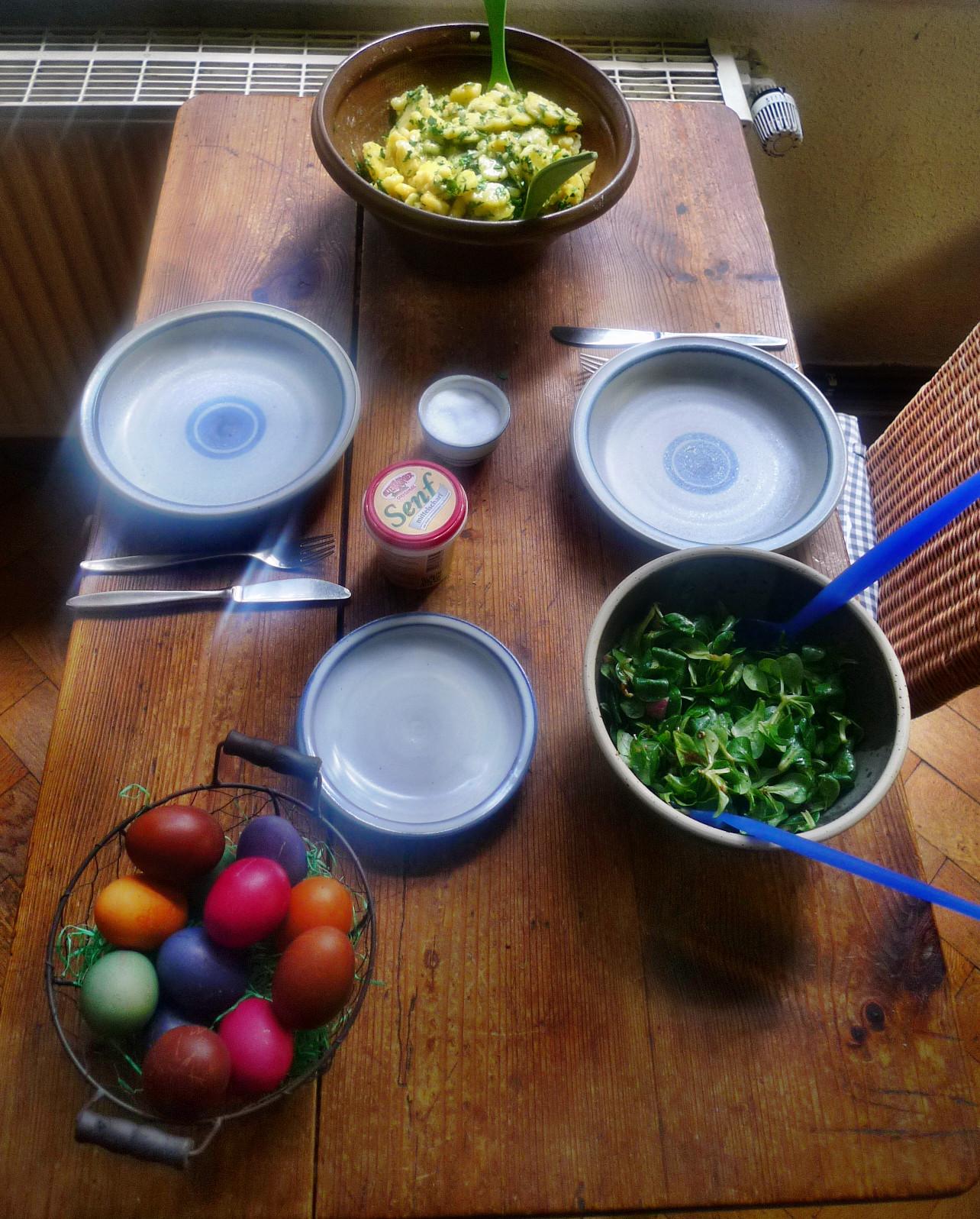 Kartoffelsalat mit Bärlauch,Feldsalat,Ostereier - 6.4.15   (5)