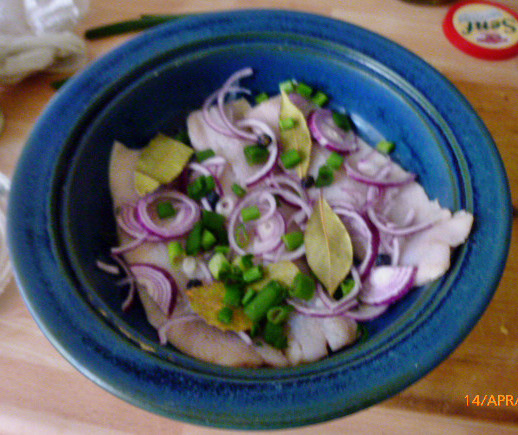 Marinierter Hering,Kartoffeln,Salat, - 14.4.15   (1)