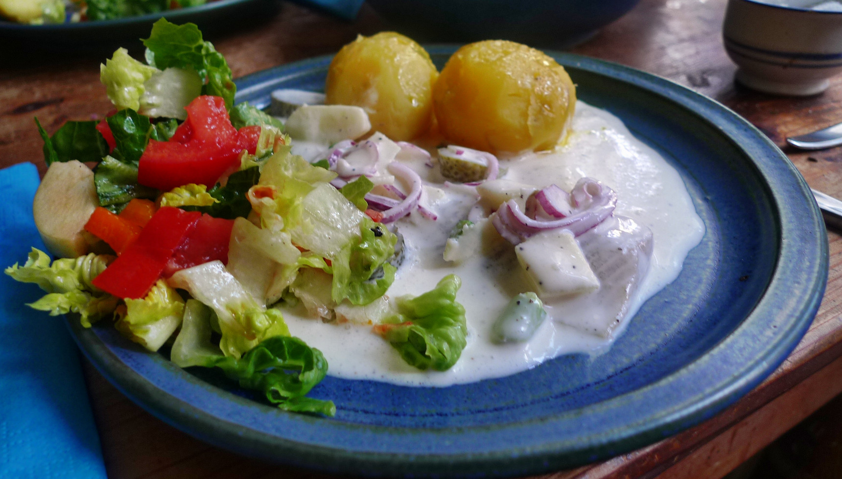 Marinierter Hering,Kartoffeln,Salat, - 14.4.15   (13)