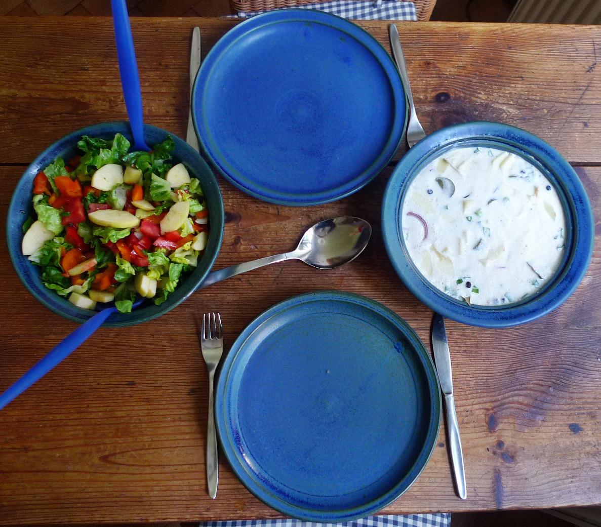 Marinierter Hering,Kartoffeln,Salat, - 14.4.15   (7)