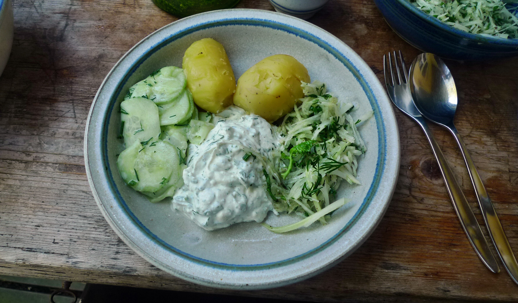 Quark,Kartoffeln,Salate - 24.4.15   (8)