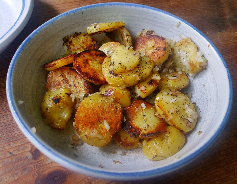 Shitakepilze, Bratkartoffel,Salat -28.4 (5)