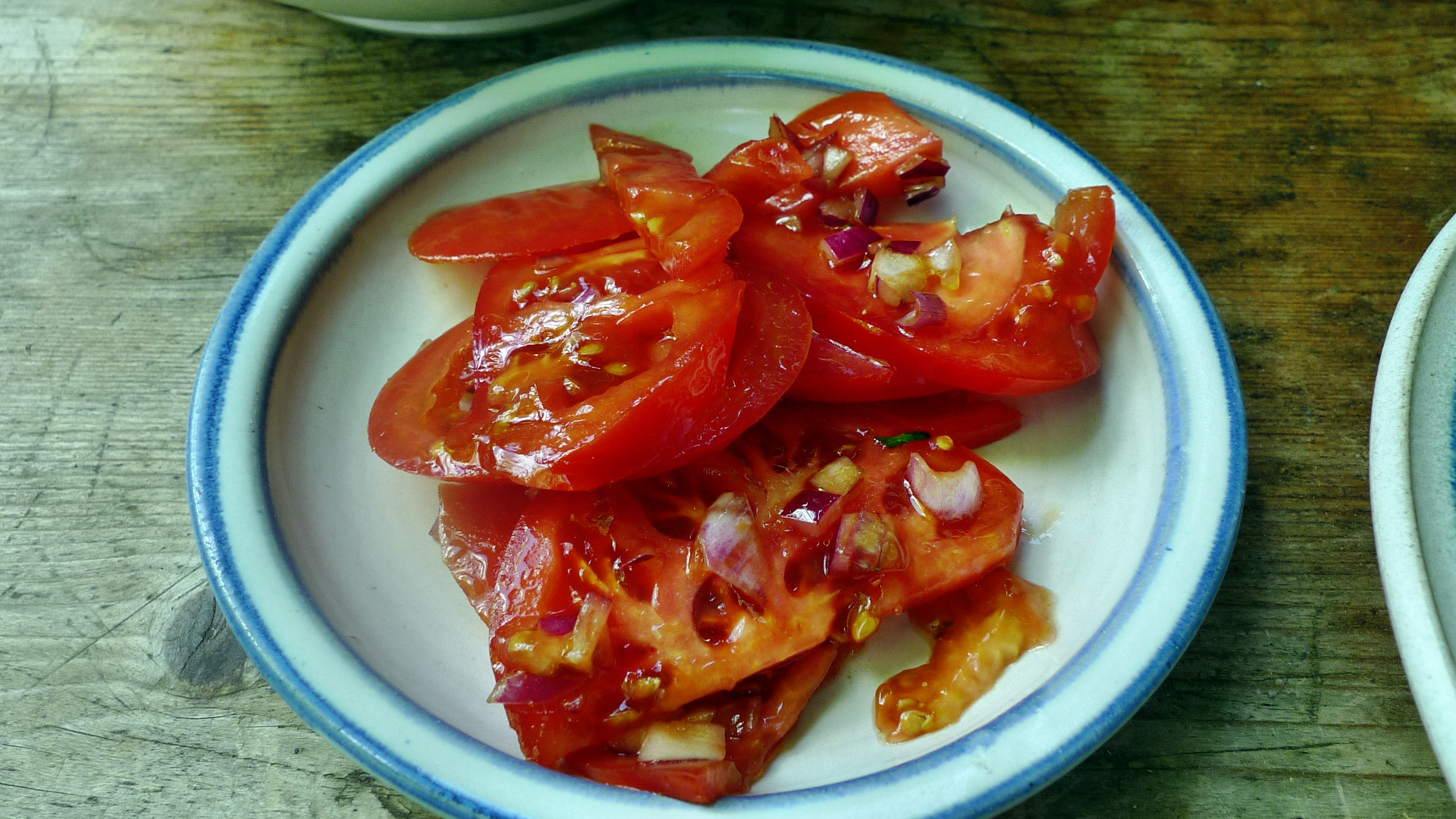 Kalte Kräutersuppe,gebratener Fenchel,Tomatensalat - 4.5.15   (12)