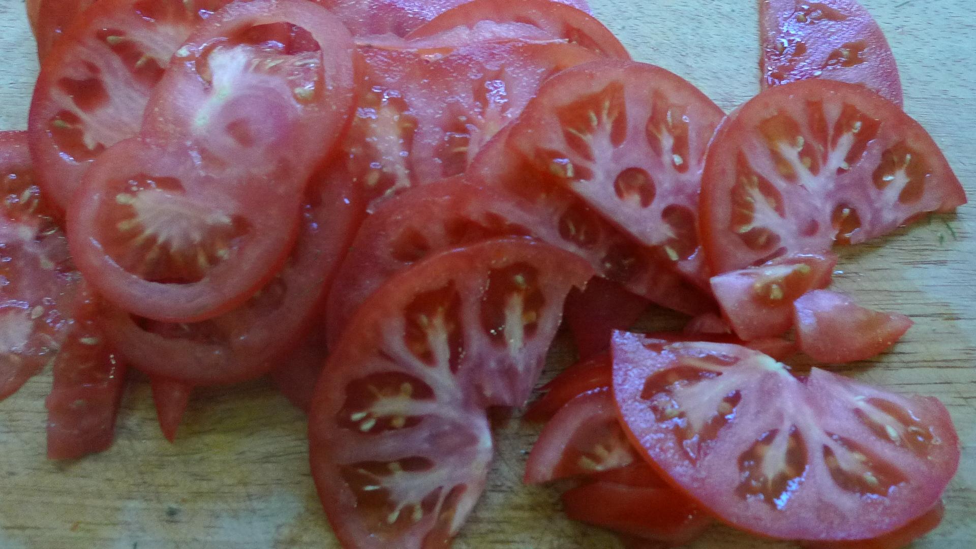 Kalte Kräutersuppe,gebratener Fenchel,Tomatensalat - 4.5.15   (4)