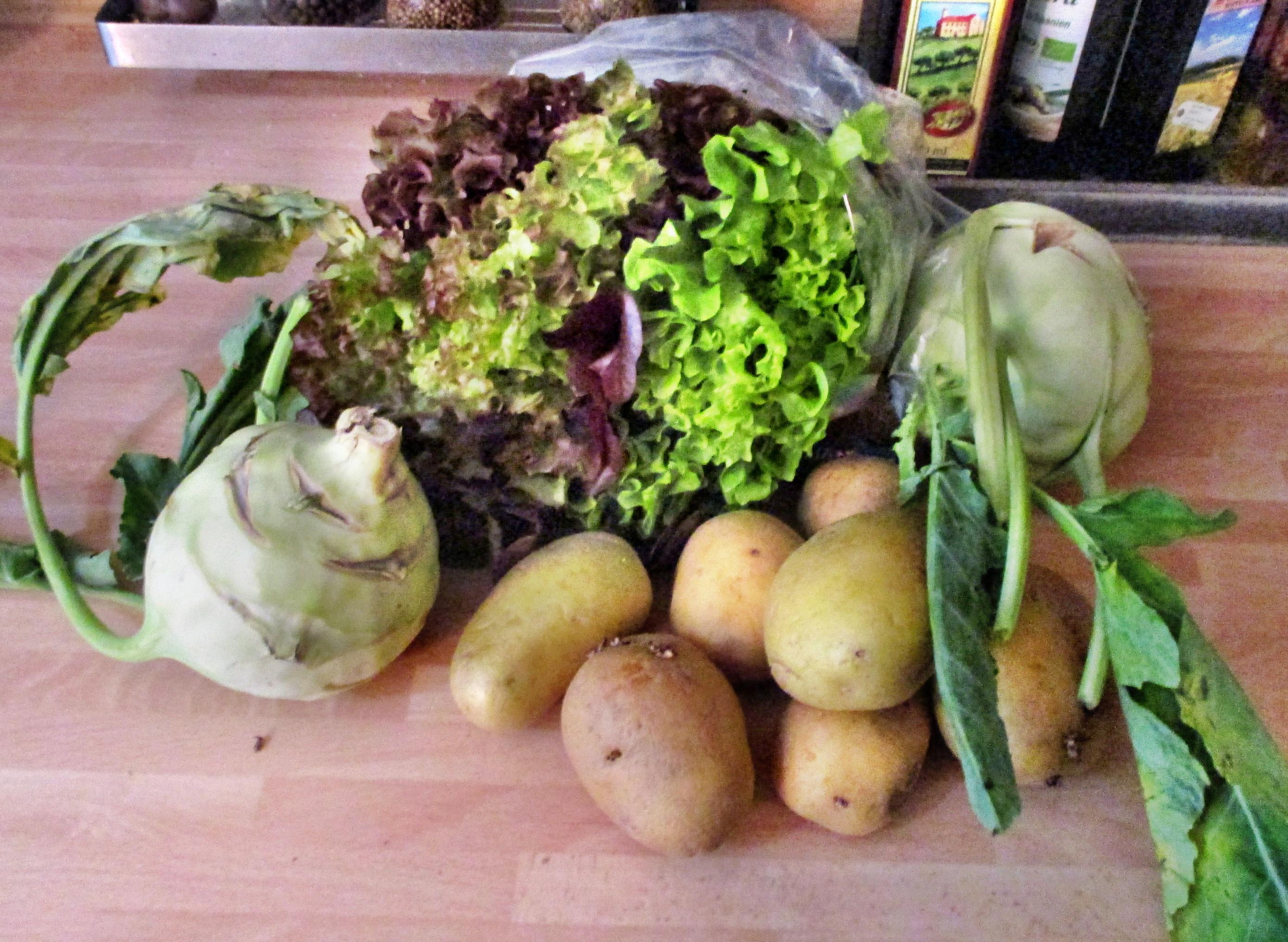 Kabeljau,Kohlrabigemüse,Salzkartoffeln,Salat -9.6.15   (1)