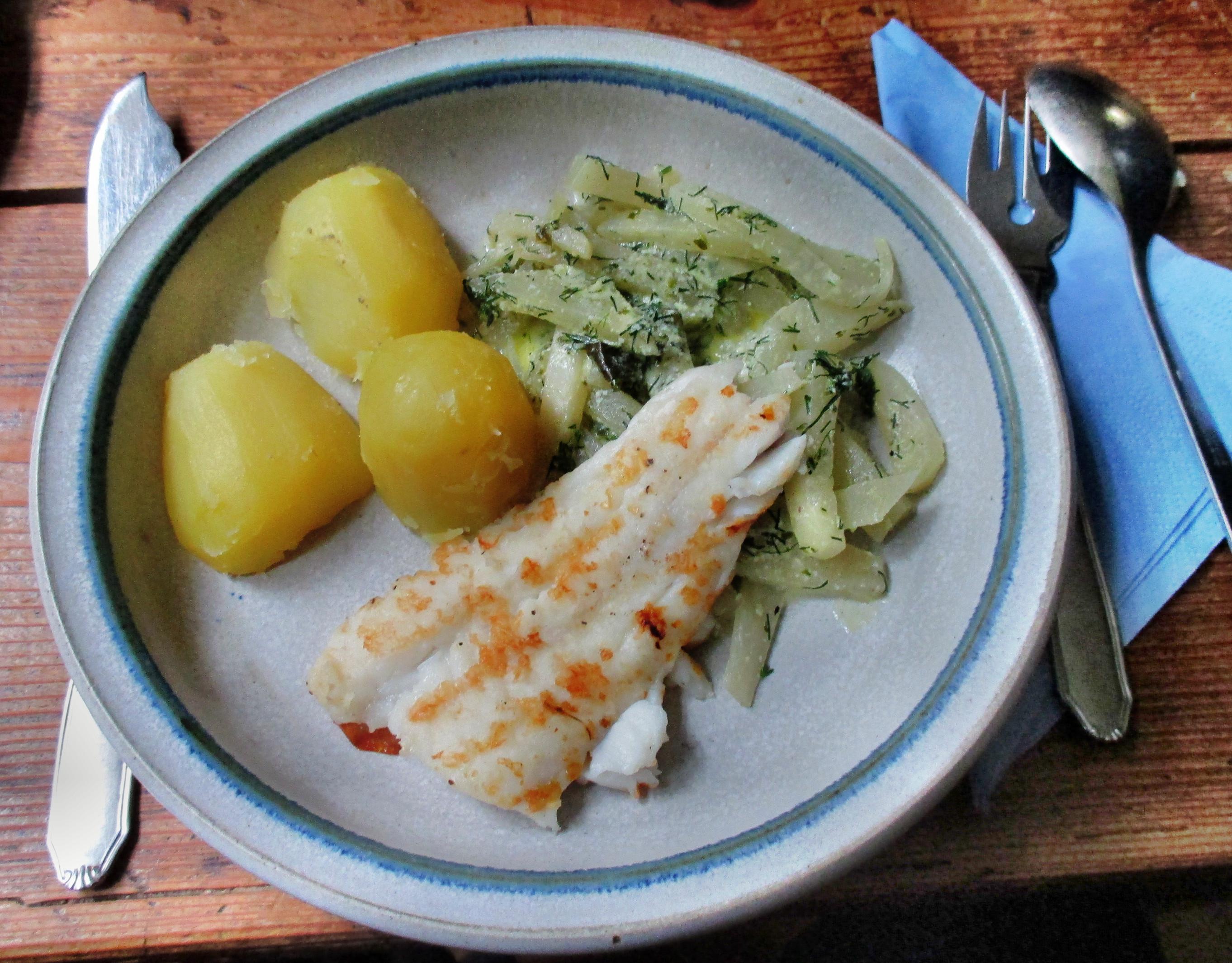 Kabeljau,Kohlrabigemüse,Salzkartoffeln,Salat -9.6.15   (10)
