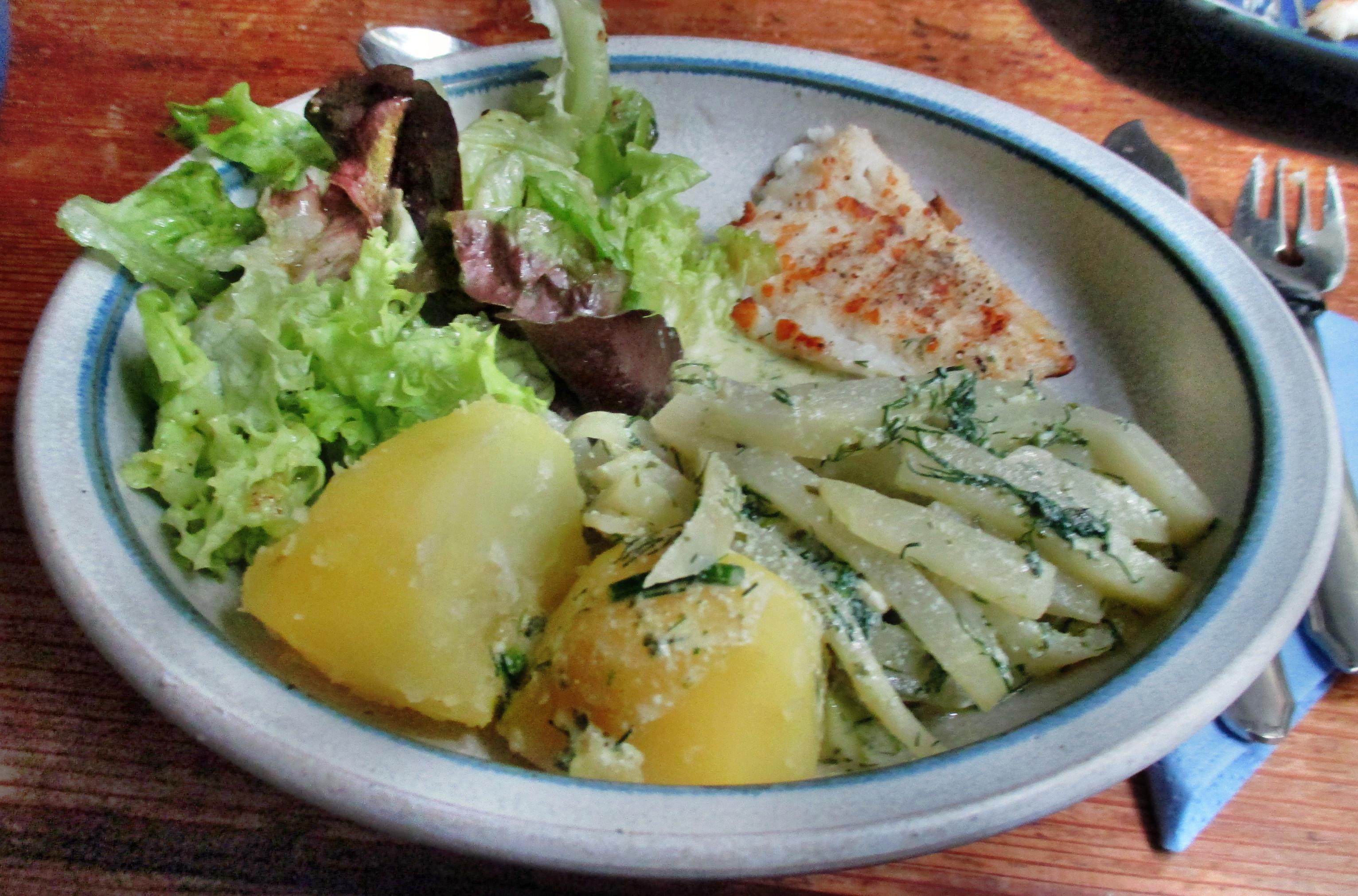 Kabeljau,Kohlrabigemüse,Salzkartoffeln,Salat -9.6.15   (9)