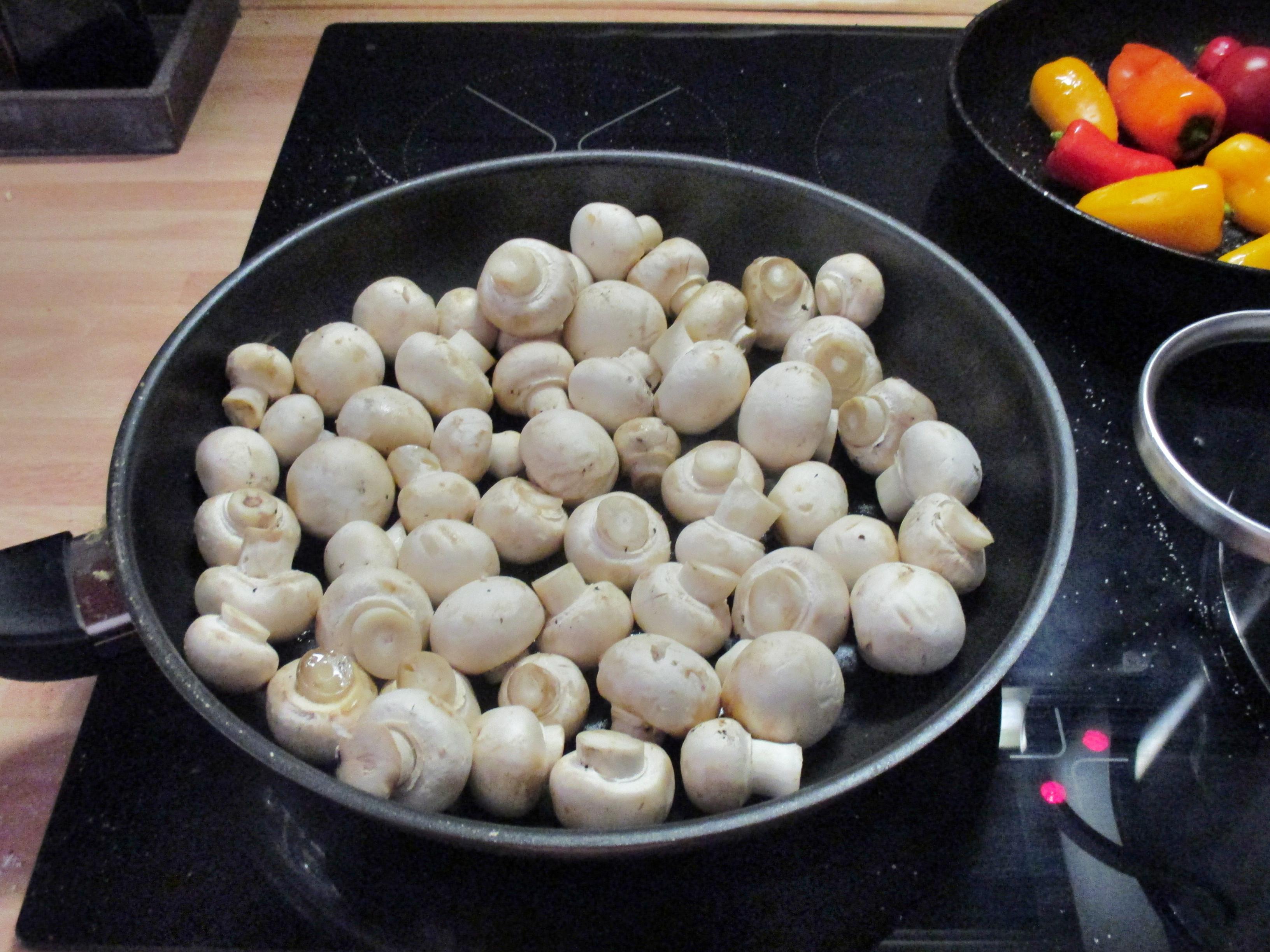 selbstgemachte Nudeln,Champignon,Bratpaprika,Salat -21.6.15   (10)